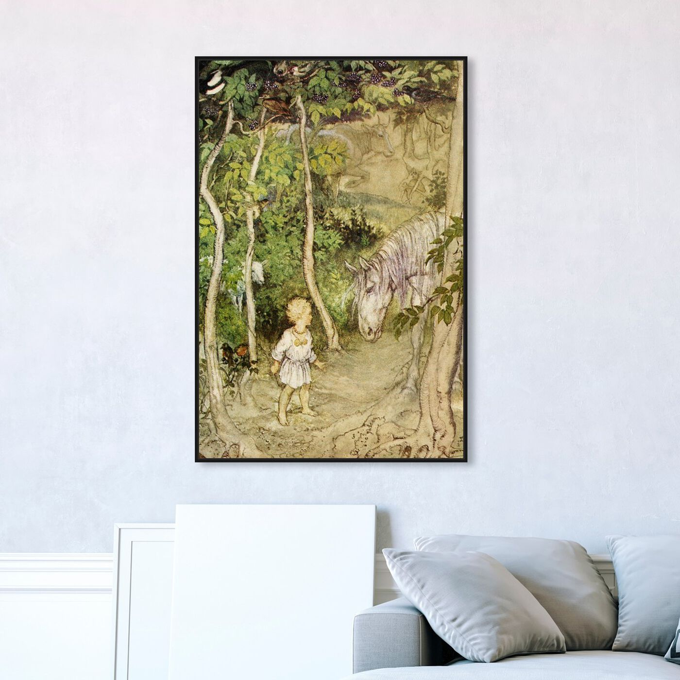 Hanging view of Magic Stallion featuring fantasy and sci-fi and fairy tales art.