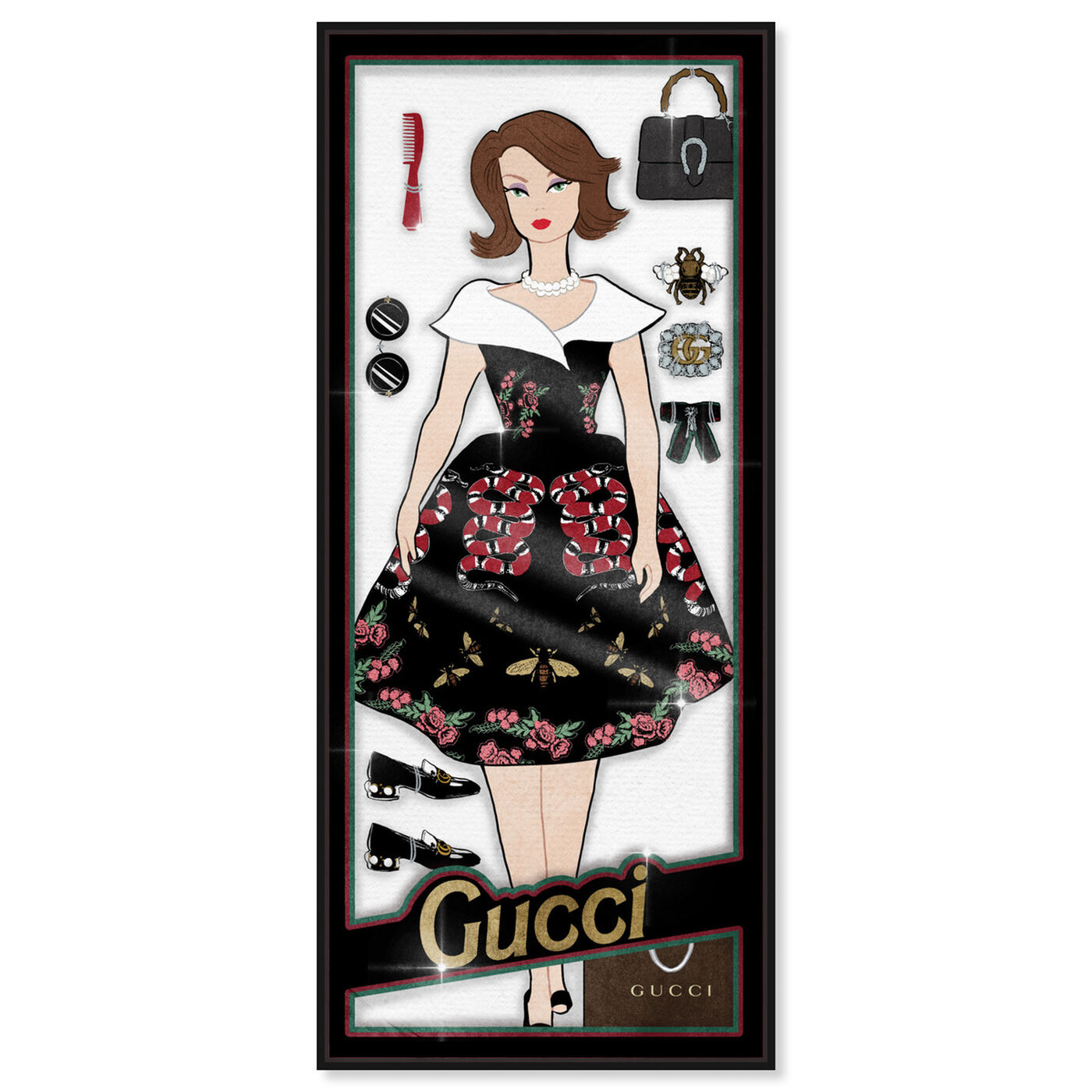Front view of Fashionista Doll featuring fashion and glam and dolls art.
