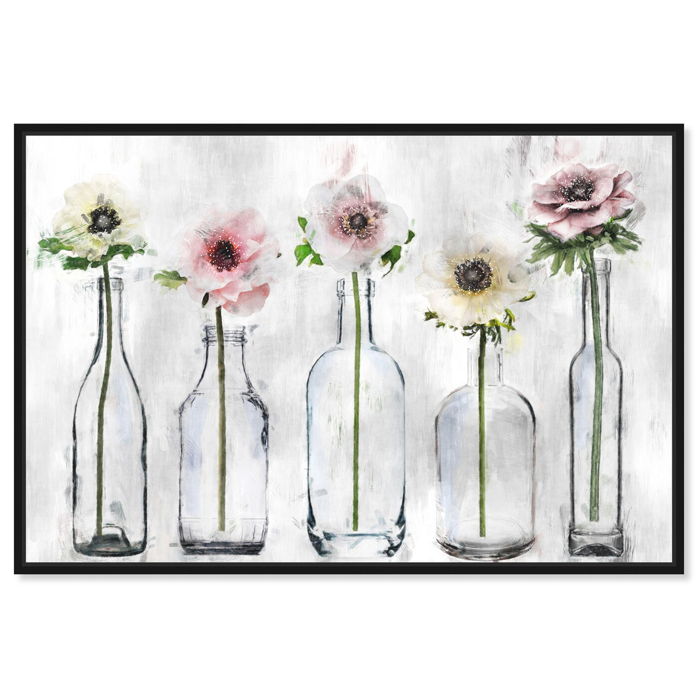 Front view of Anemone Floral featuring floral and botanical and florals art.