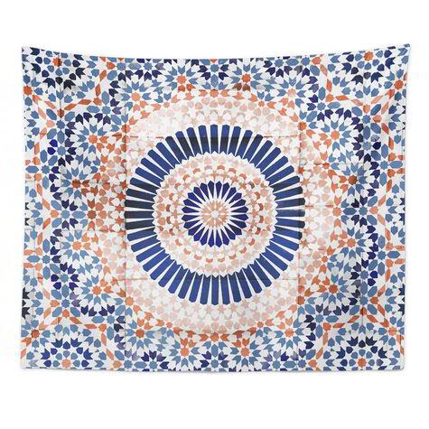 Mandala Terracotta Tapestry Art