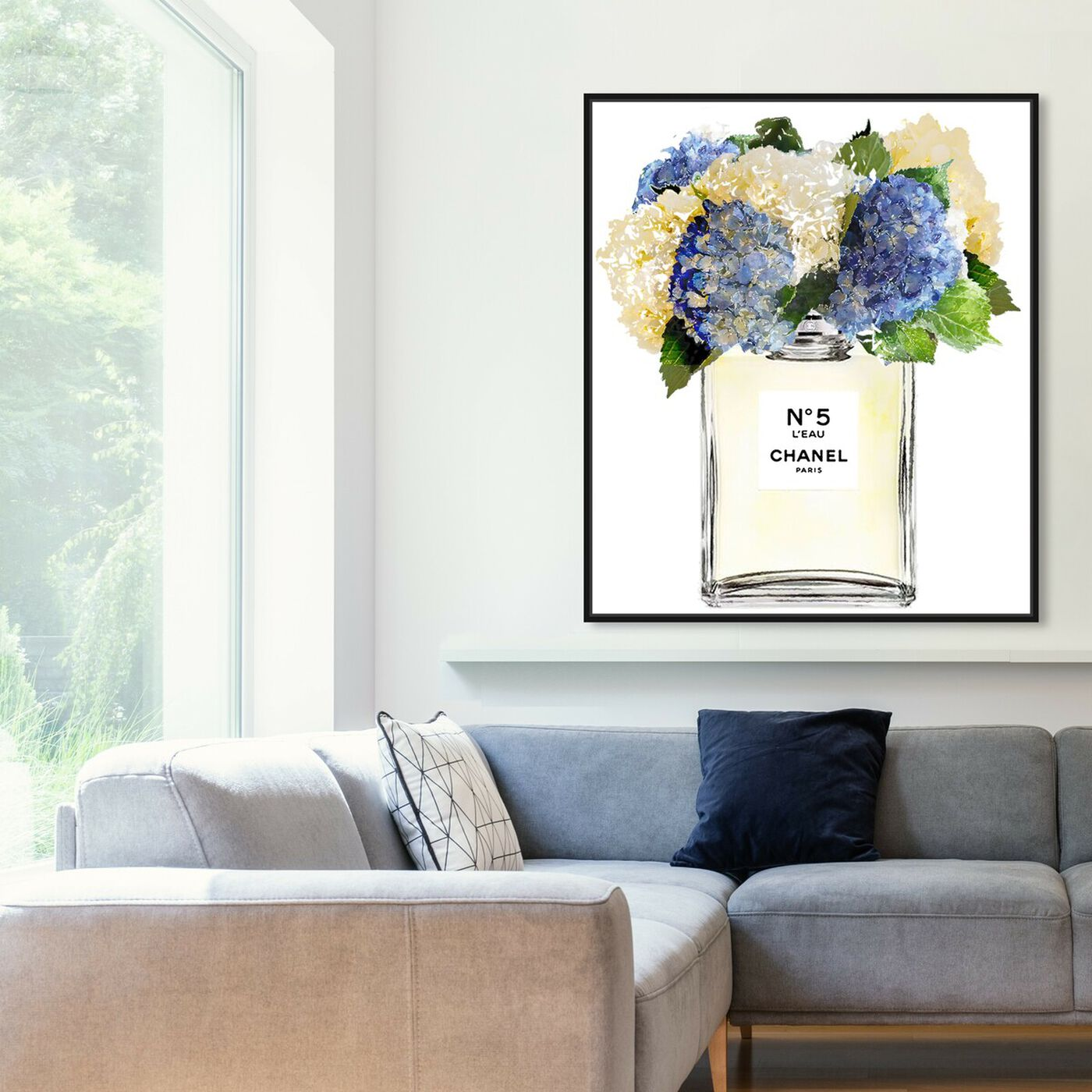 Hanging view of Bright and Airy Garden Scent Purple featuring fashion and glam and perfumes art.