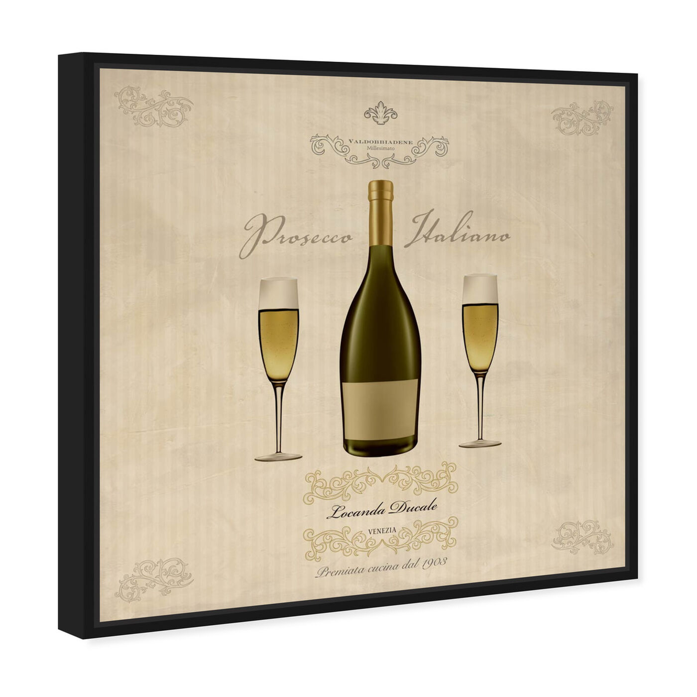 Angled view of Sai - Prosecco Italiano 1SF1383 featuring drinks and spirits and wine art.