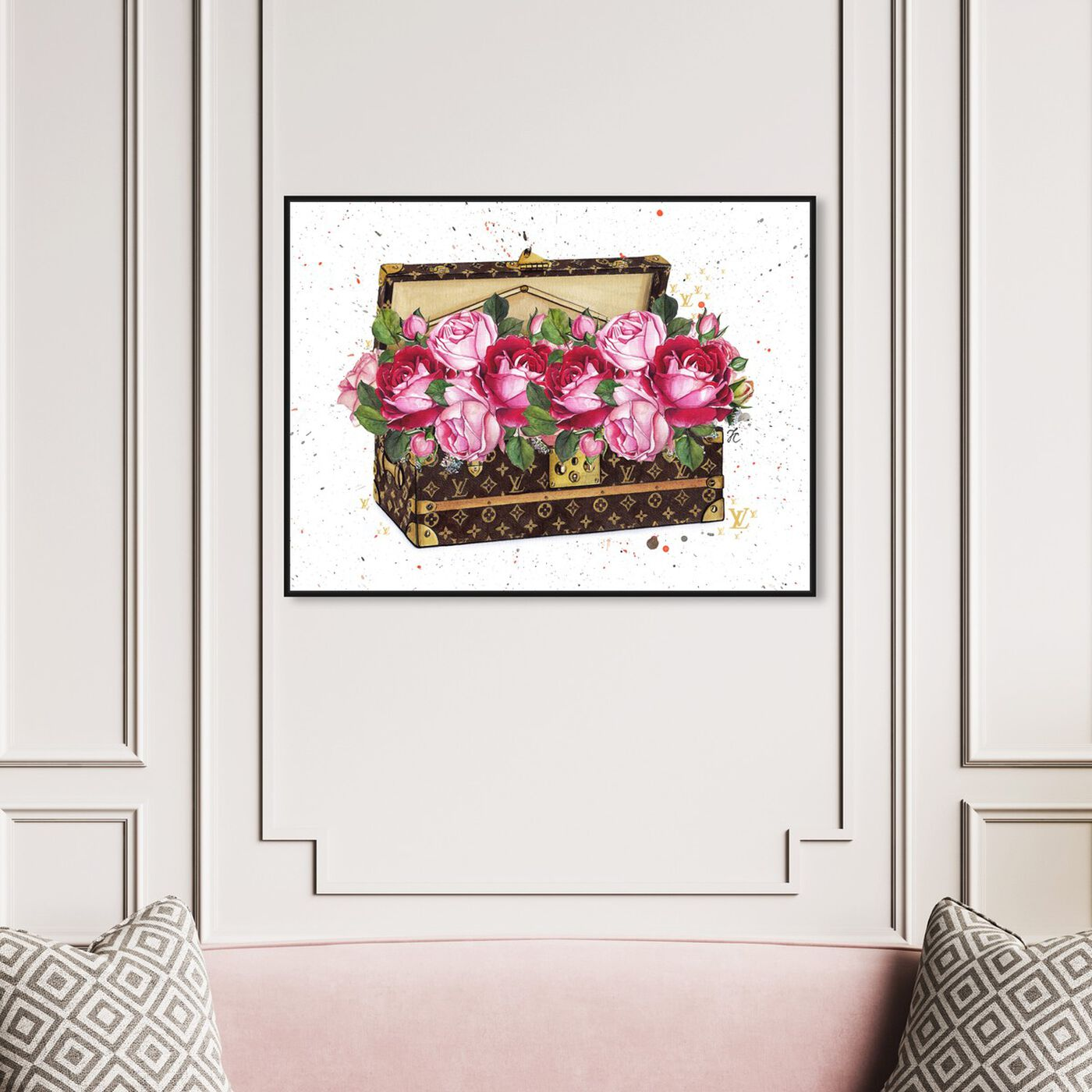 Hanging view of Doll Memories - Floral Trunk featuring floral and botanical and florals art.