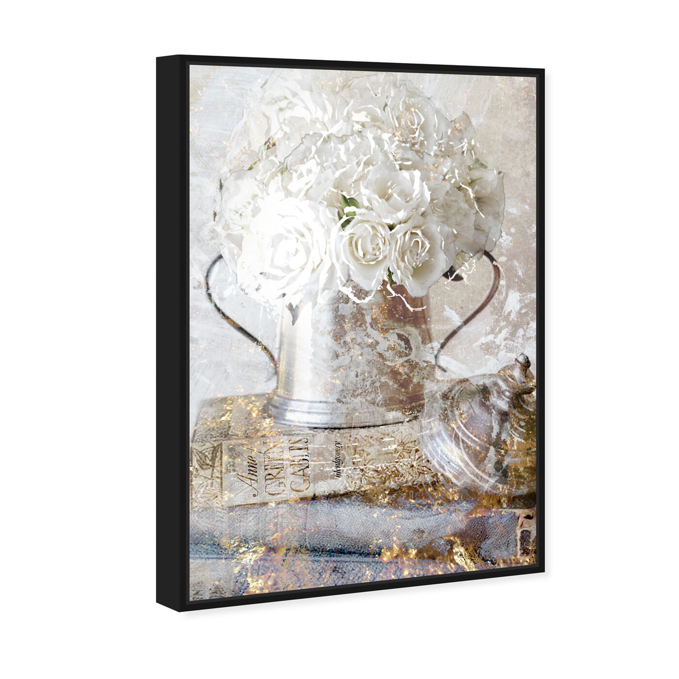 Angled view of Romantic Roses featuring floral and botanical and florals art.
