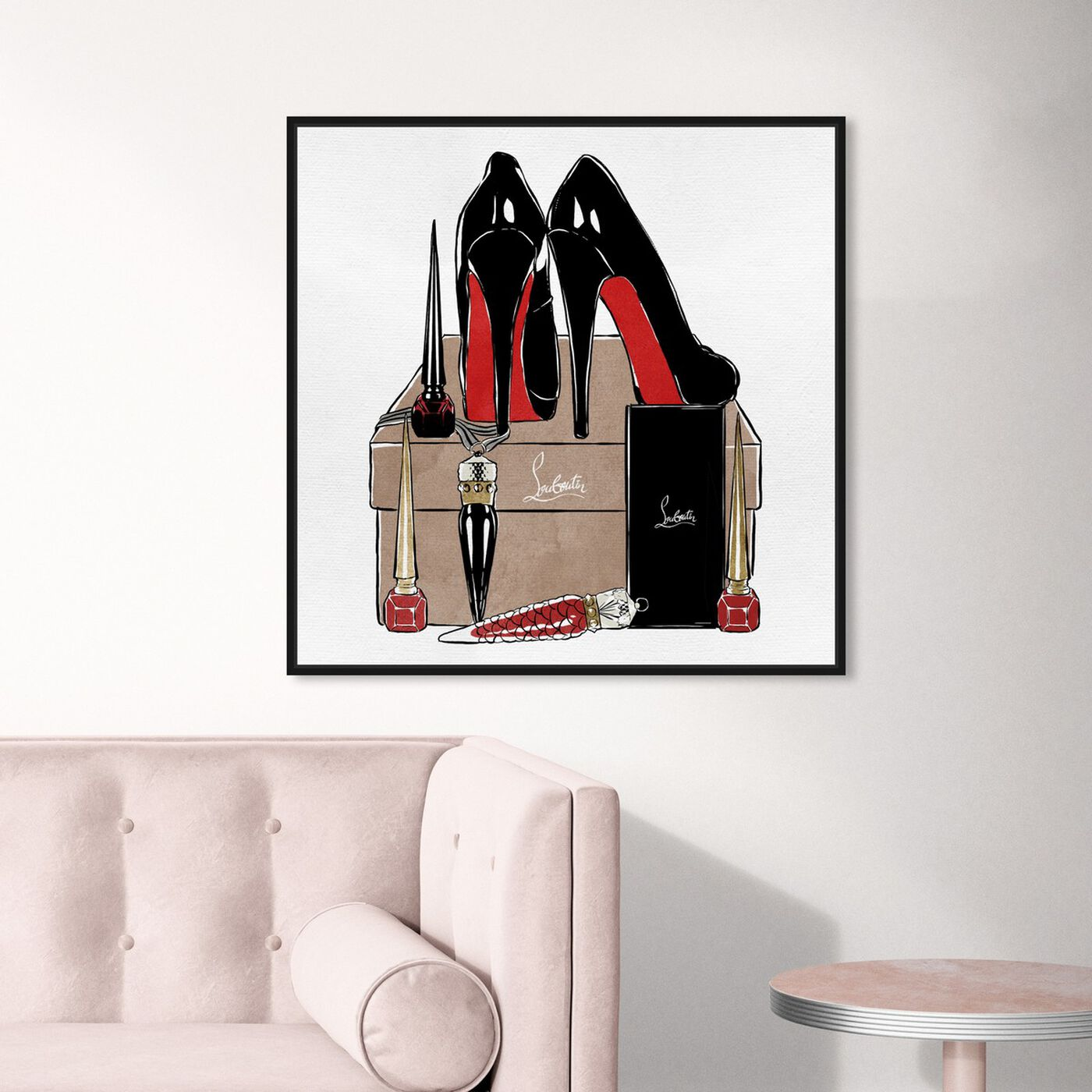 Hanging view of High Heels High Fashion featuring fashion and glam and shoes art.