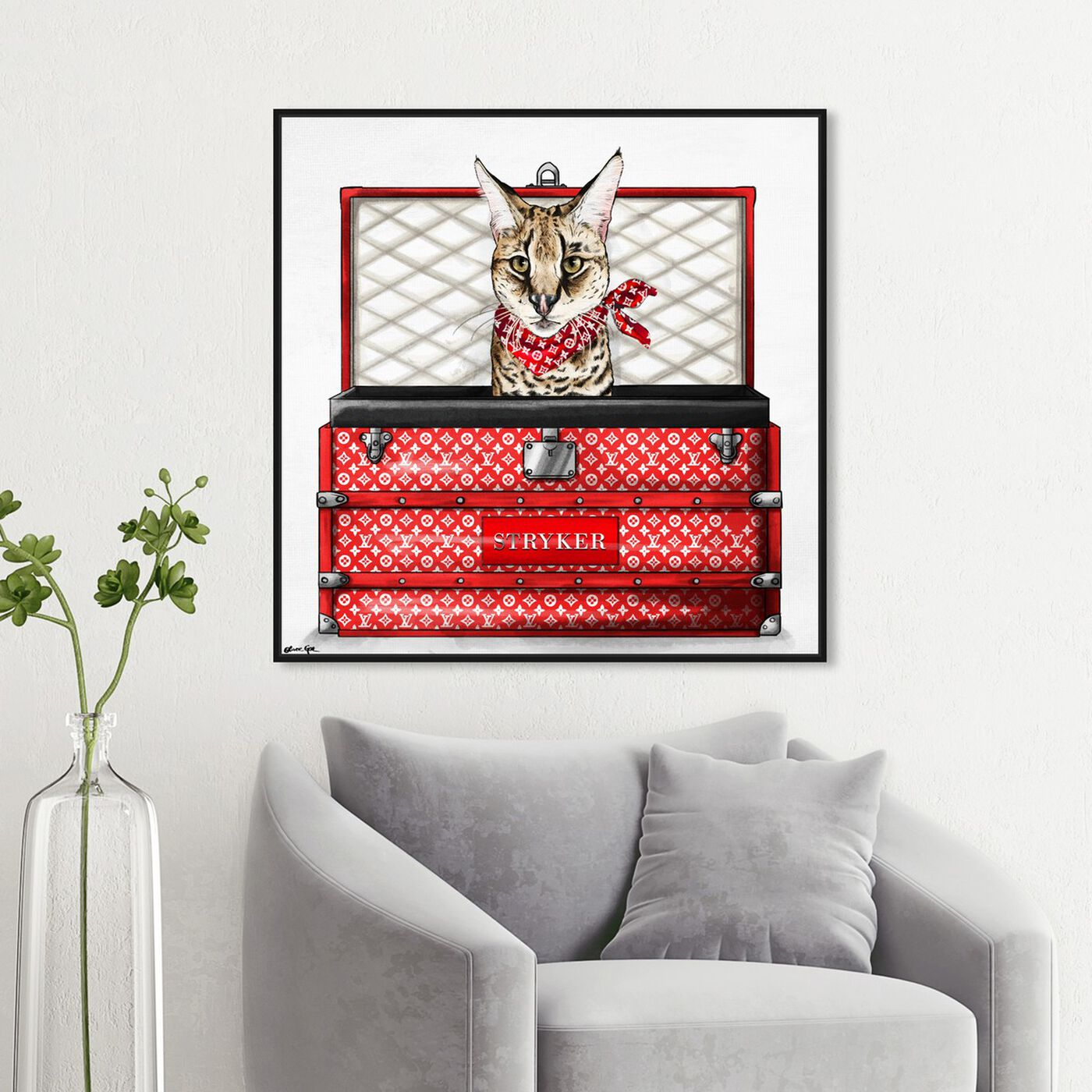 Hanging view of Fashion Traveler featuring fashion and glam and travel essentials art.