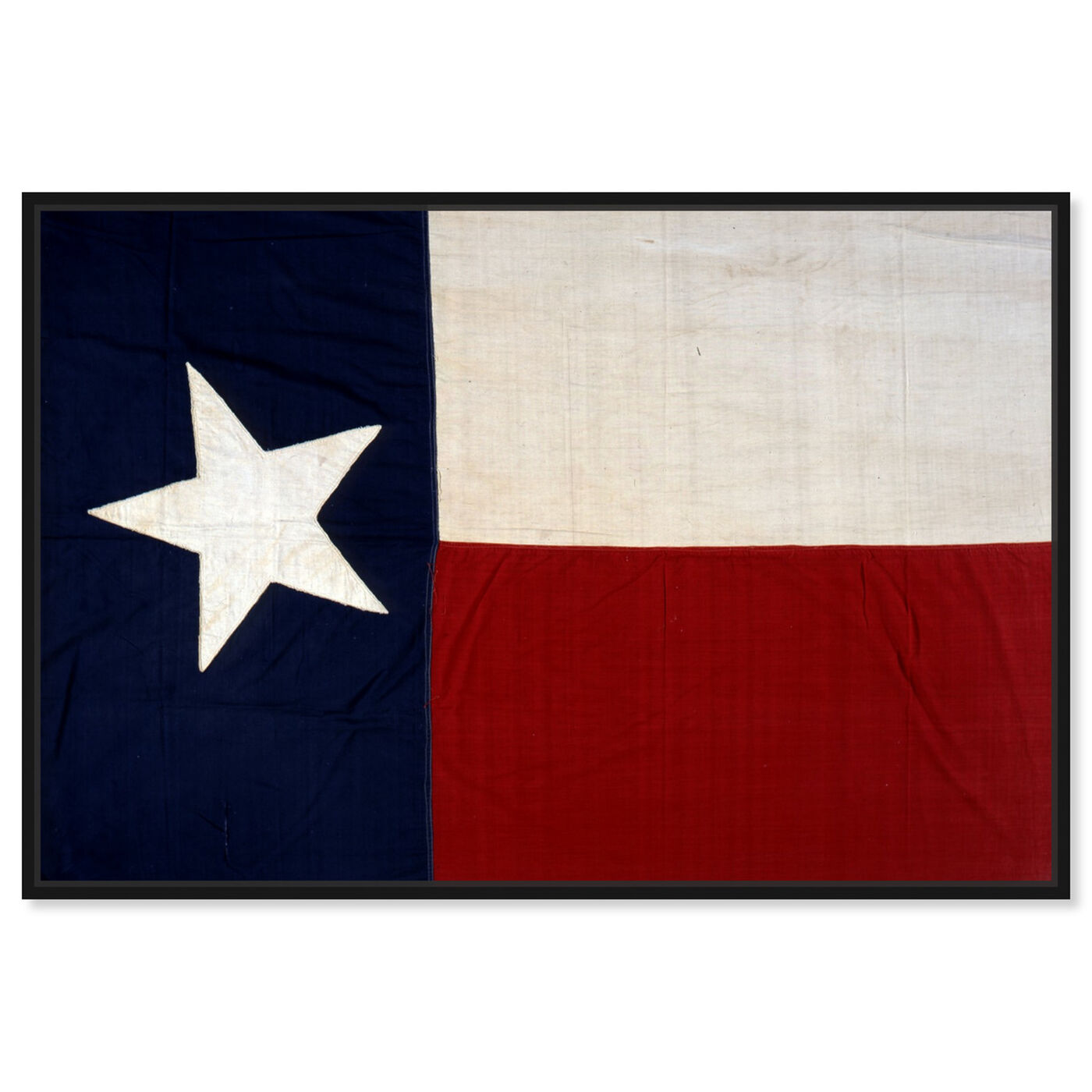 Front view of Lone Star Flag featuring maps and flags and us states flags art.