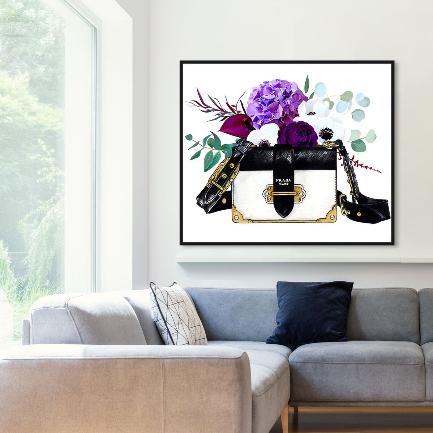Hanging view of Doll Memories - Paris Flower Bag featuring fashion and glam and handbags art.