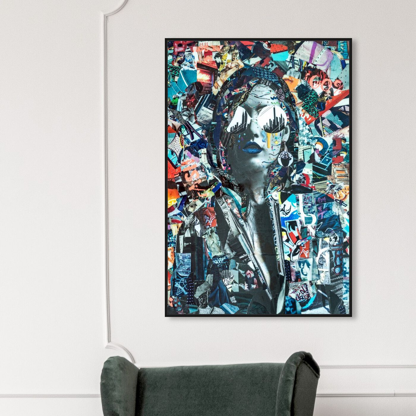 Hanging view of City by Katy Hirschfeld I featuring fashion and glam and portraits art.