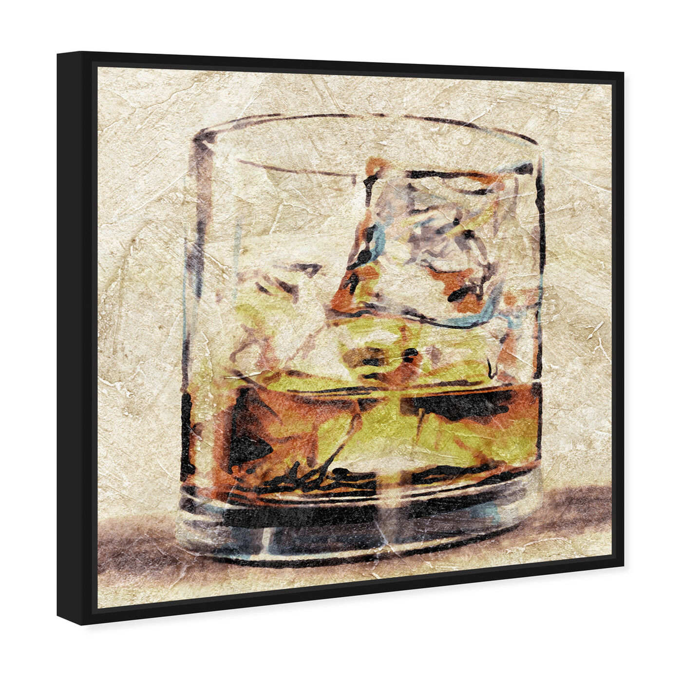Angled view of Scotch Glass featuring drinks and spirits and liquor art.
