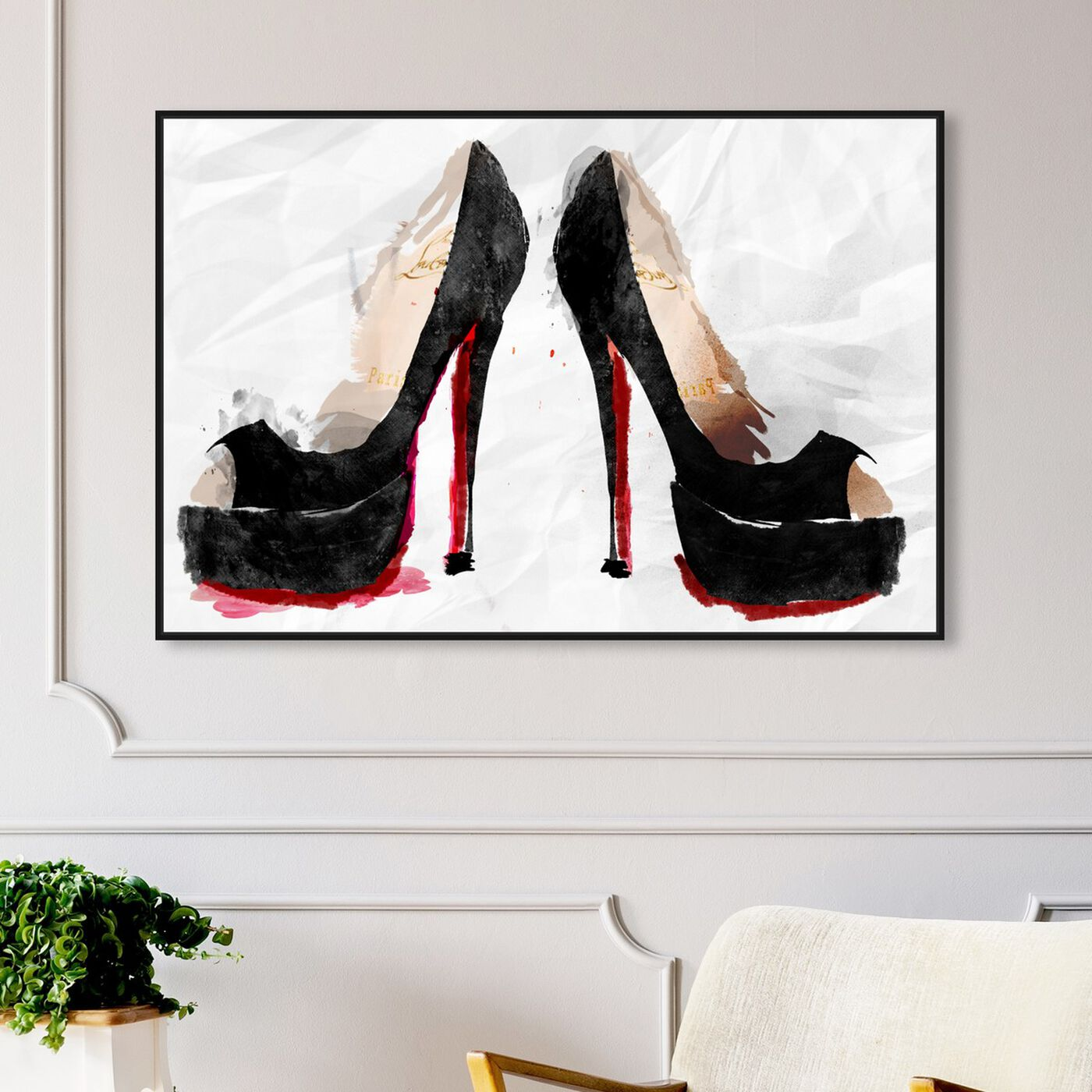 Hanging view of Take a Stand featuring fashion and glam and shoes art.