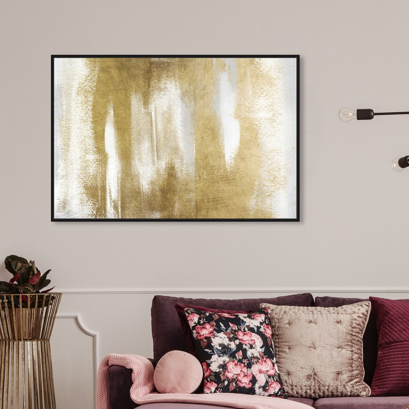 Hanging view of Behold featuring abstract and textures art.
