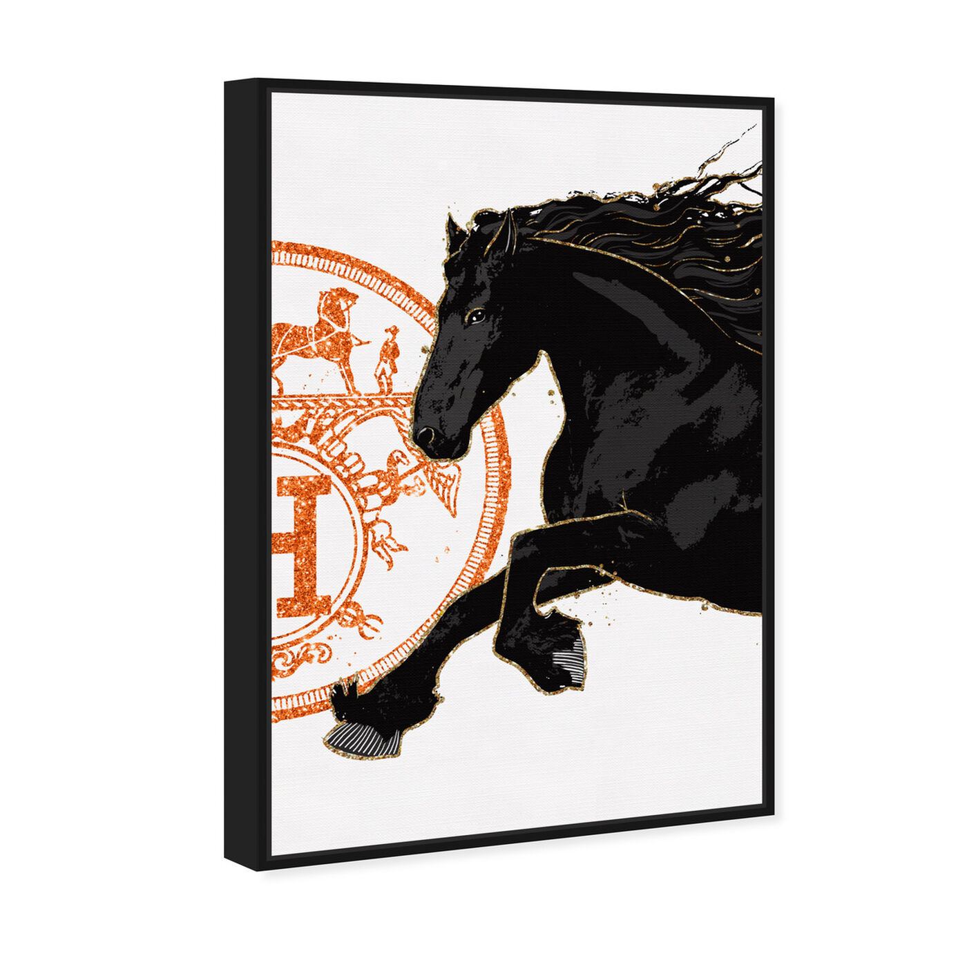 Angled view of Black Cavalier II featuring fashion and glam and fashion lifestyle art.