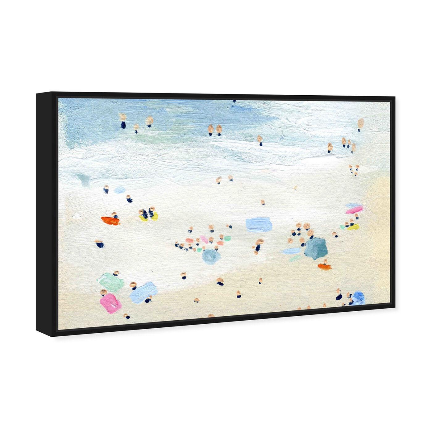 Angled view of Tiny People Horizontal featuring nautical and coastal and coastal art.