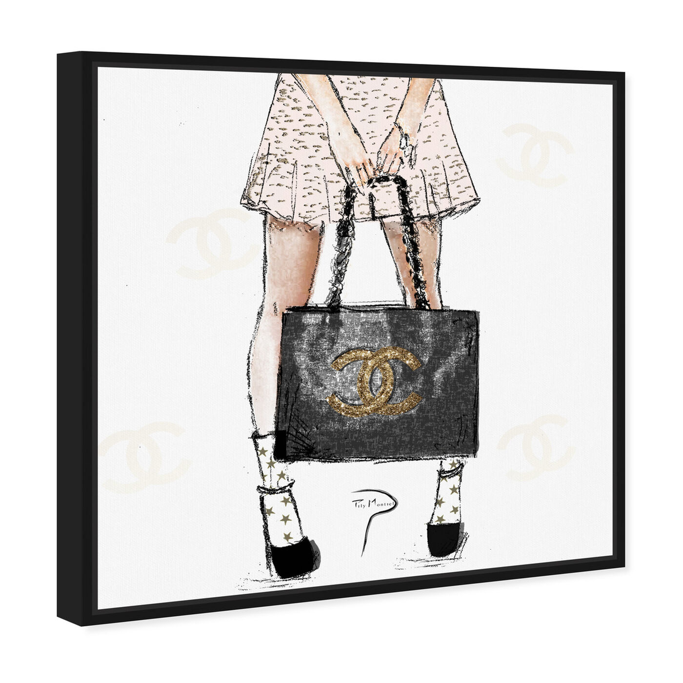 Angled view of Pily Montiel - Tweed Girl featuring fashion and glam and outfits art.