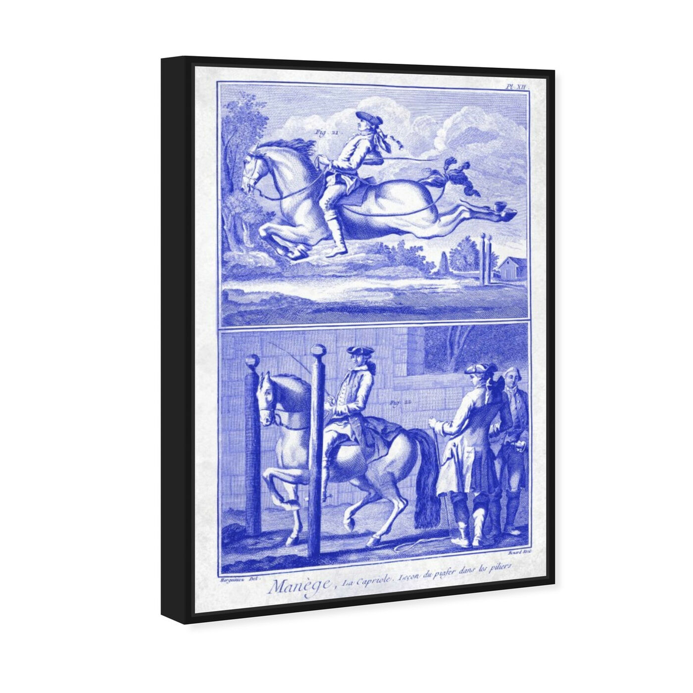 Angled view of Manege by Carson Kressley featuring classic and figurative and classical figures art.