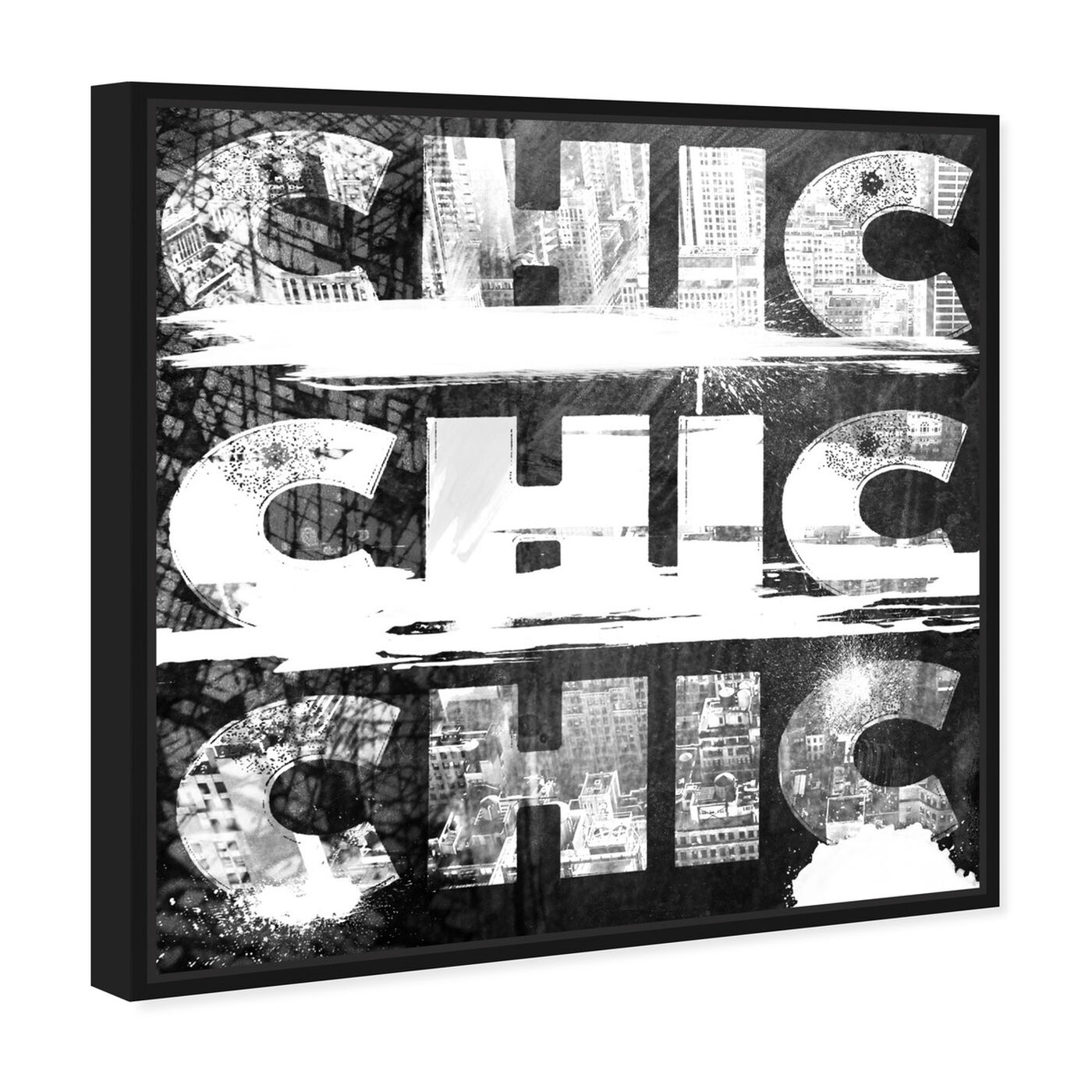 Angled view of Triple City Chic featuring typography and quotes and beauty quotes and sayings art.
