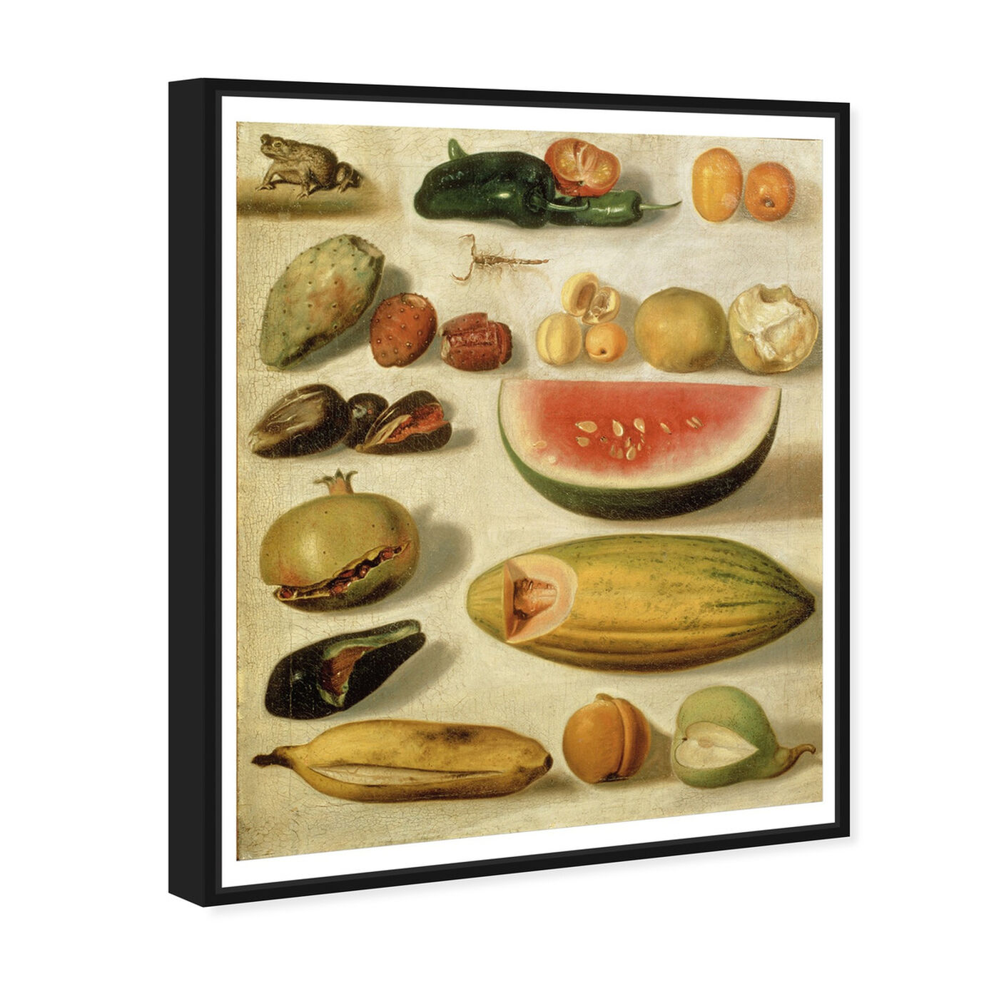Angled view of Bustos - Still Life With Fruit featuring classic and figurative and impressionism art.