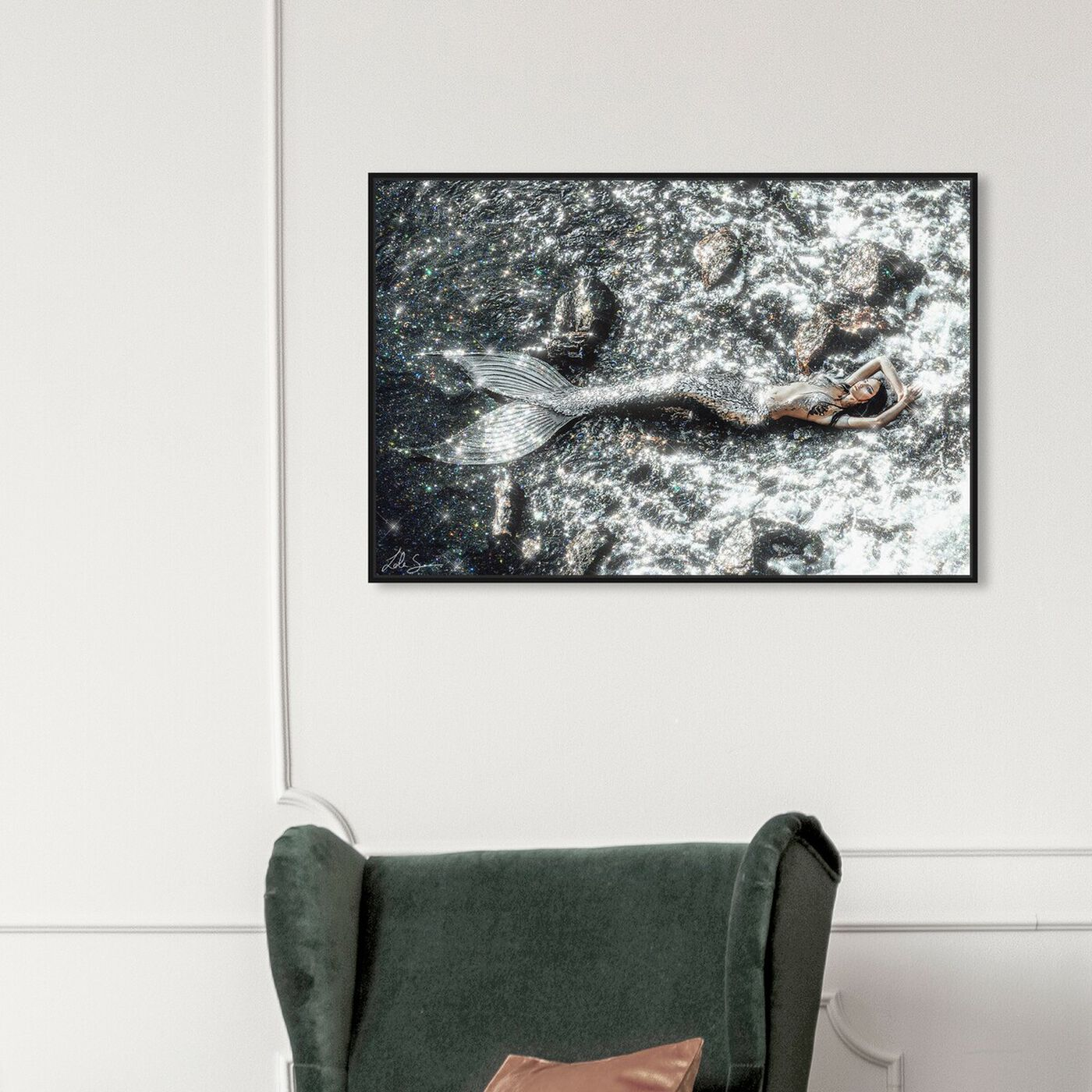 Hanging view of Save The Ocean featuring fantasy and sci-fi and fantasy creatures art.