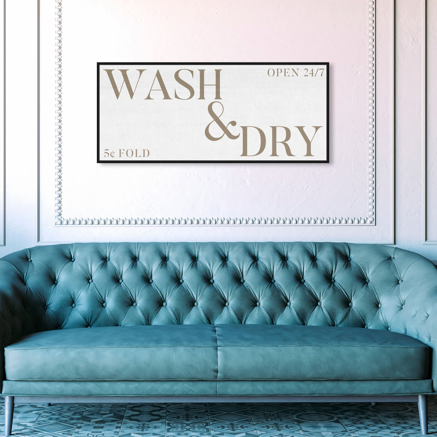 Hanging view of Wash and Dry Rustic featuring typography and quotes and family quotes and sayings art.