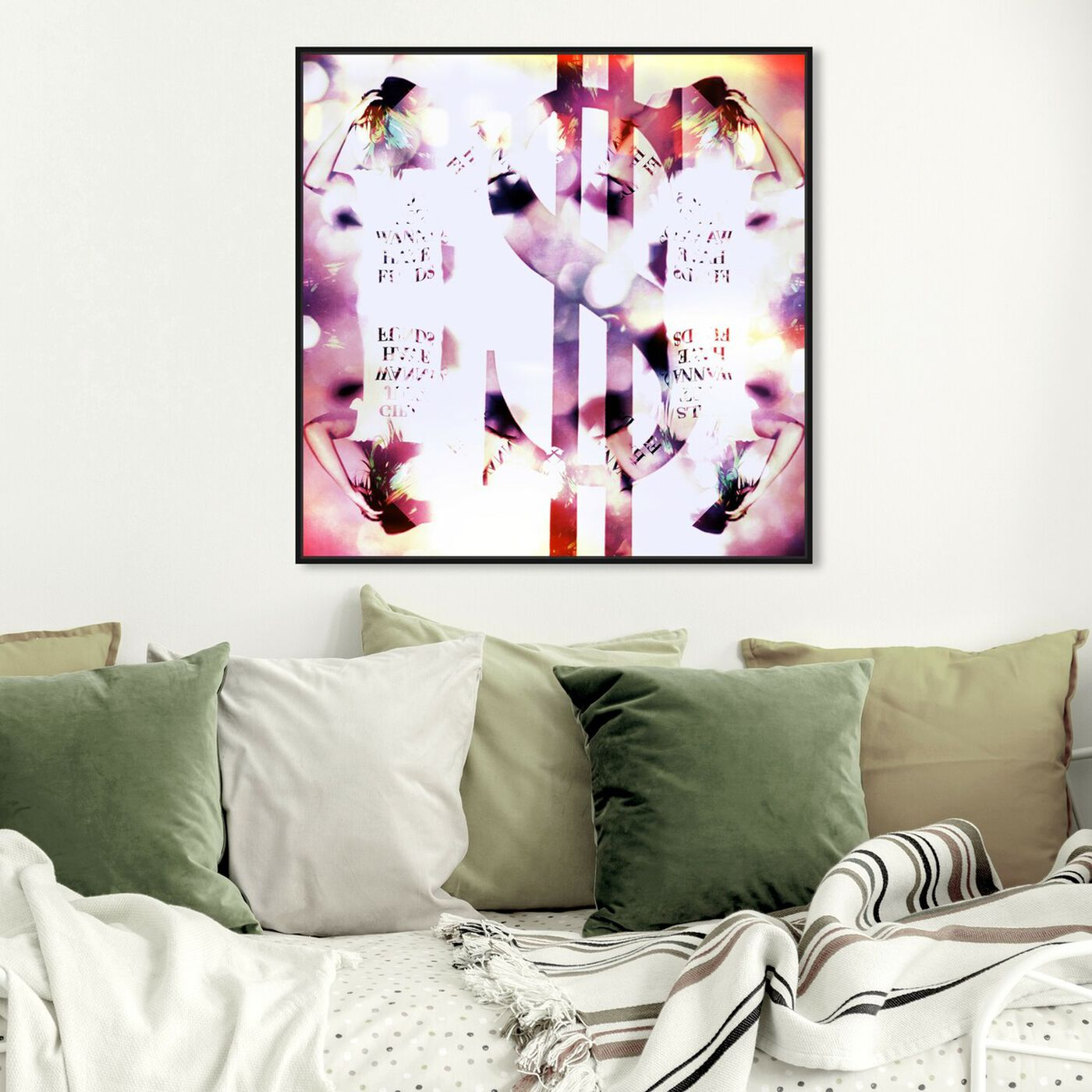 Hanging view of Girls Just Wanna Have Fund$ featuring abstract and textures art.