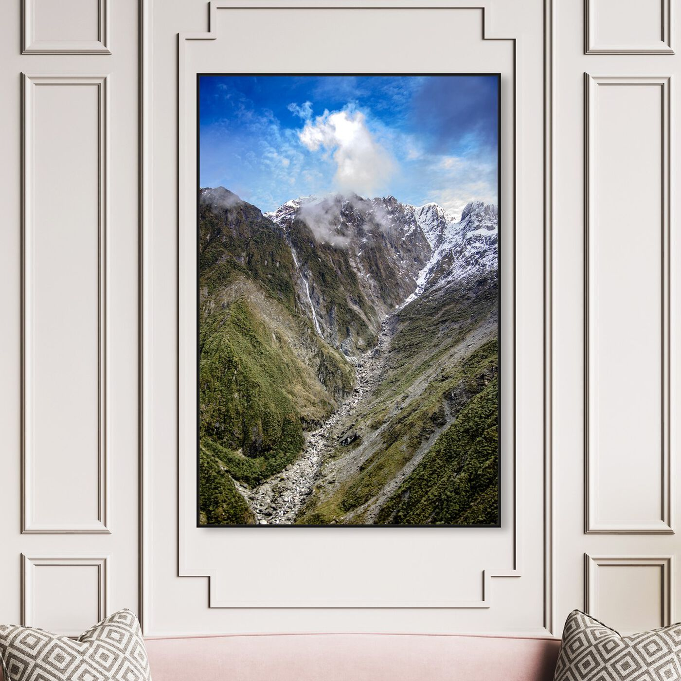 Hanging view of Curro Cardenal - Wild Creek featuring nature and landscape and mountains art.