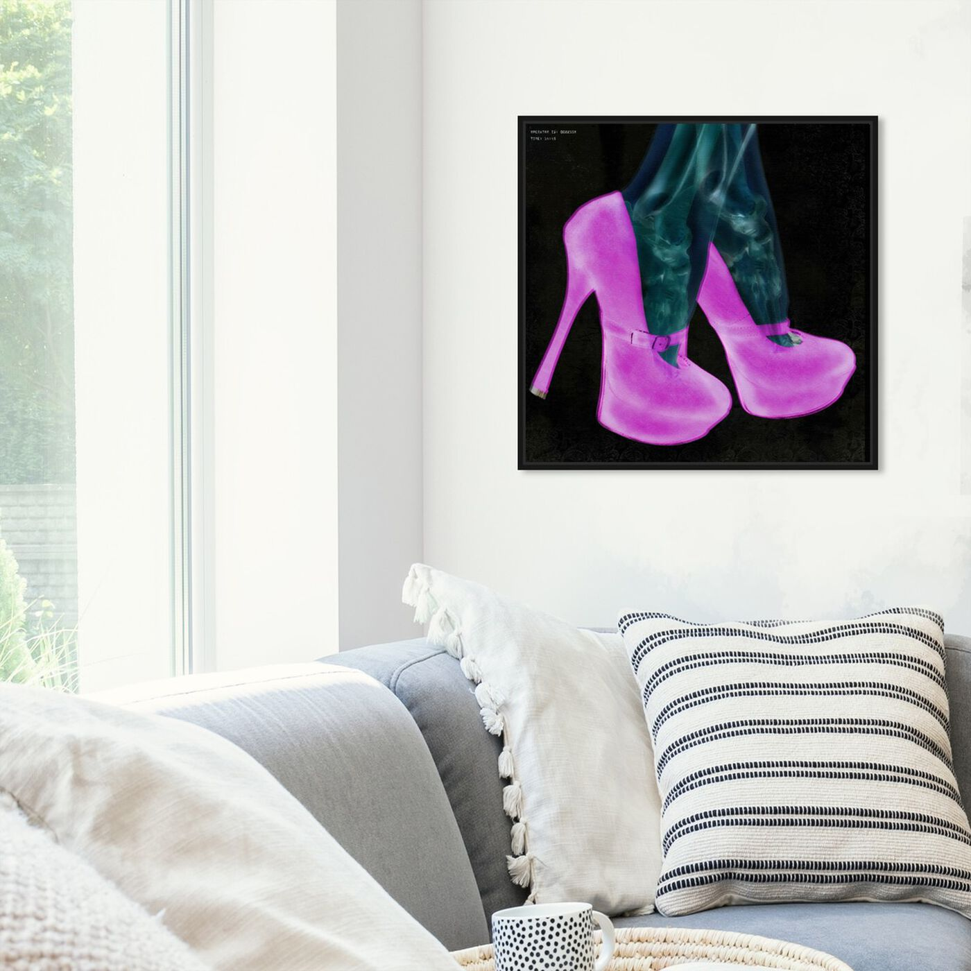 Hanging view of Everything But My Shoes featuring fashion and glam and shoes art.