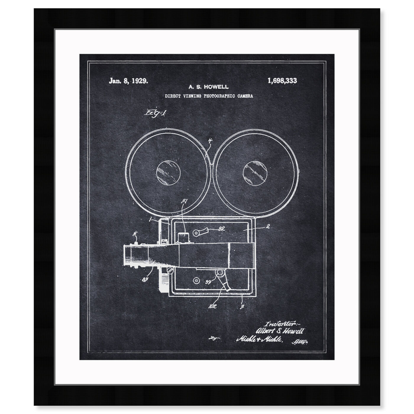 Front view of Direct Viewing Photographic Camera 1929  featuring people and portraits and professions art.