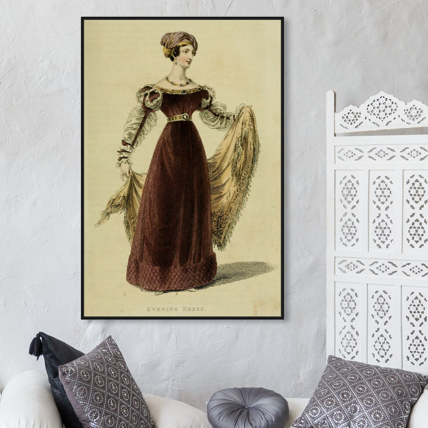 Hanging view of Evening Dress V - The Art Cabinet featuring classic and figurative and realism art.