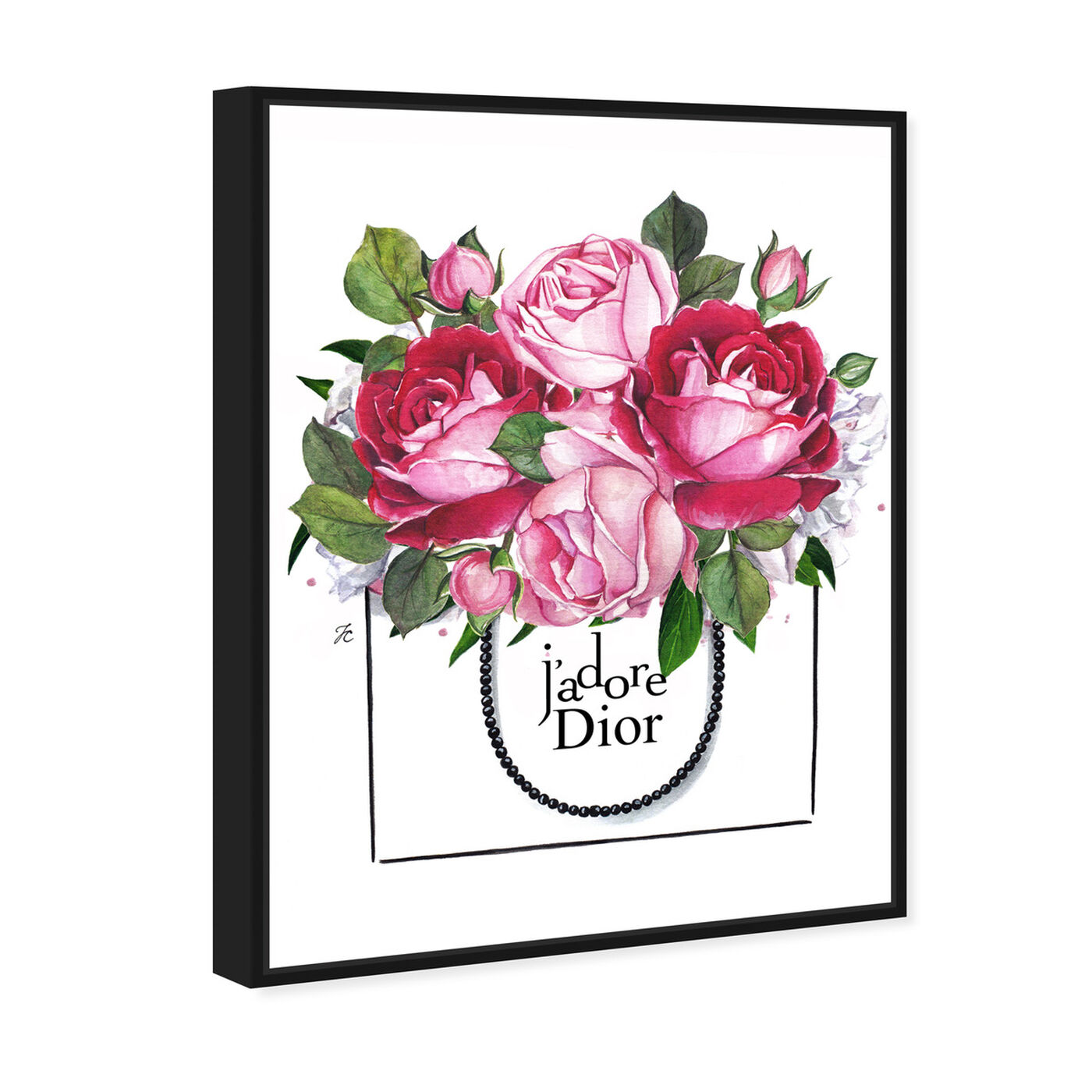 Angled view of Doll Memories - Peonies I featuring floral and botanical and florals art.
