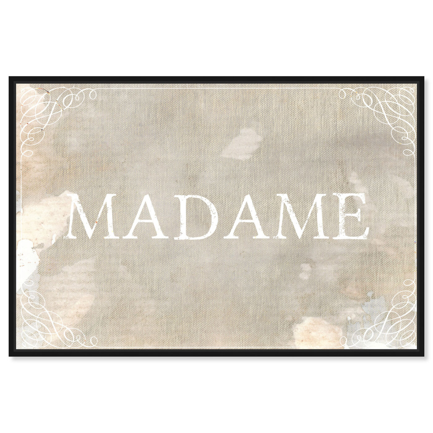 Front view of Madame featuring typography and quotes and quotes and sayings art.