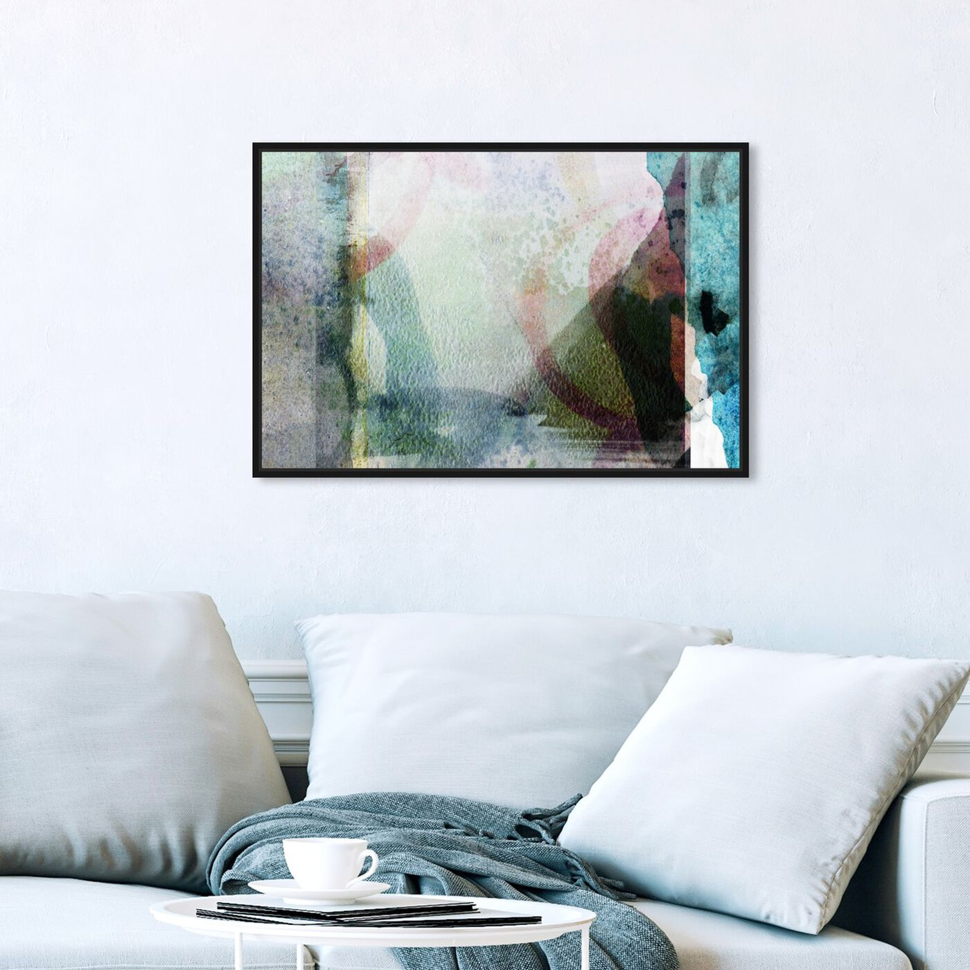 Hanging view of Con Dao Island featuring abstract and paint art.
