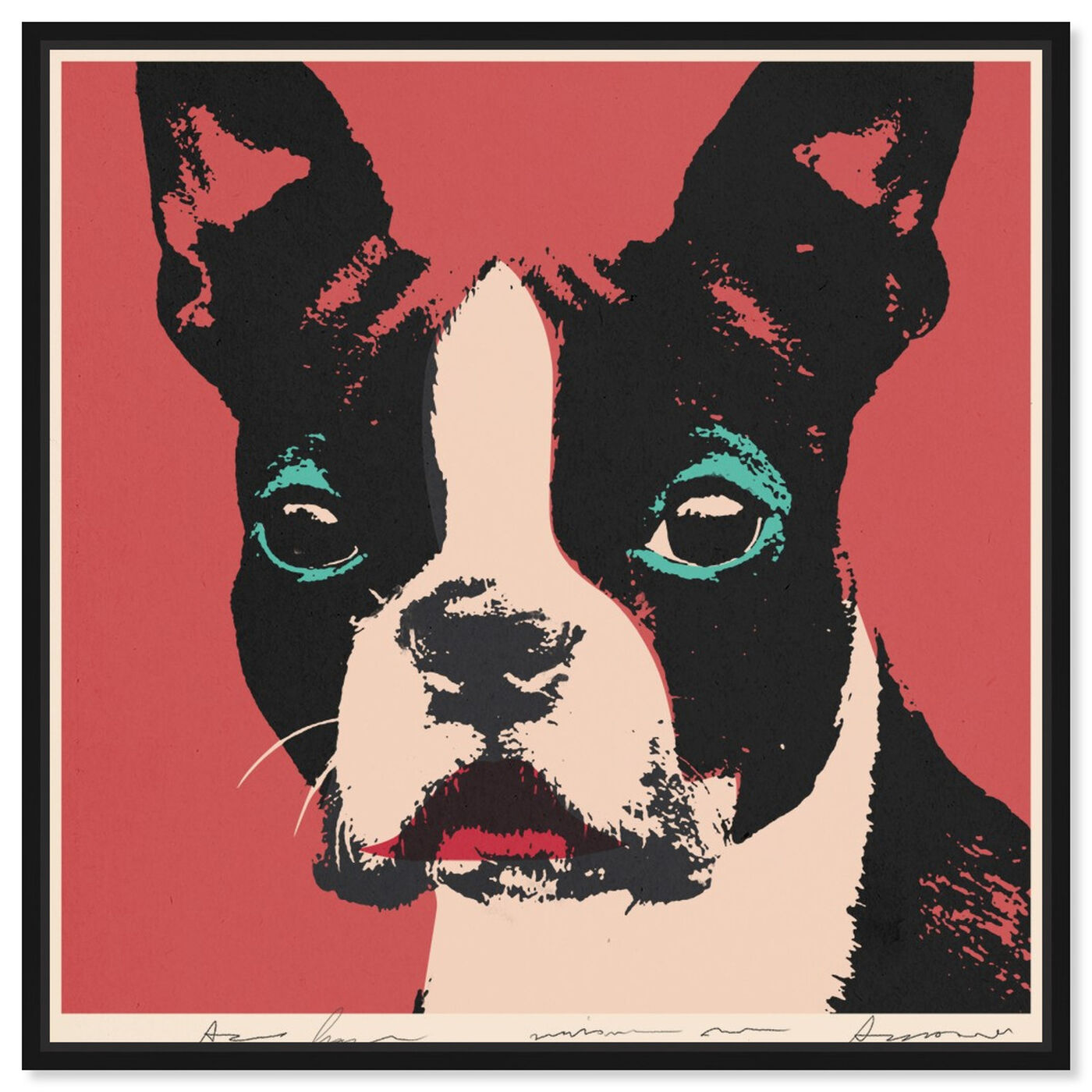 Front view of Doggy Warhol featuring animals and dogs and puppies art.