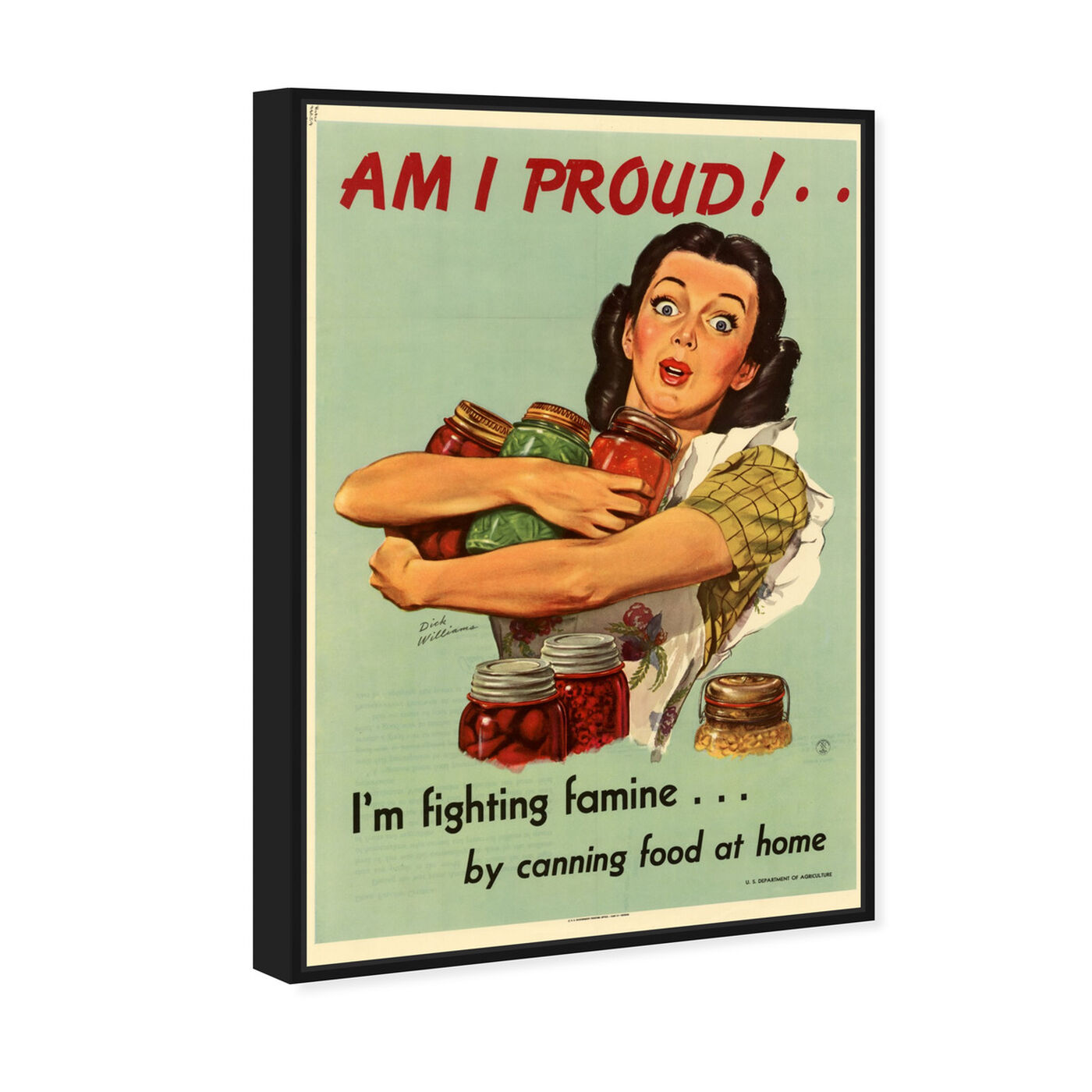 Angled view of I Am Proud featuring advertising and posters art.