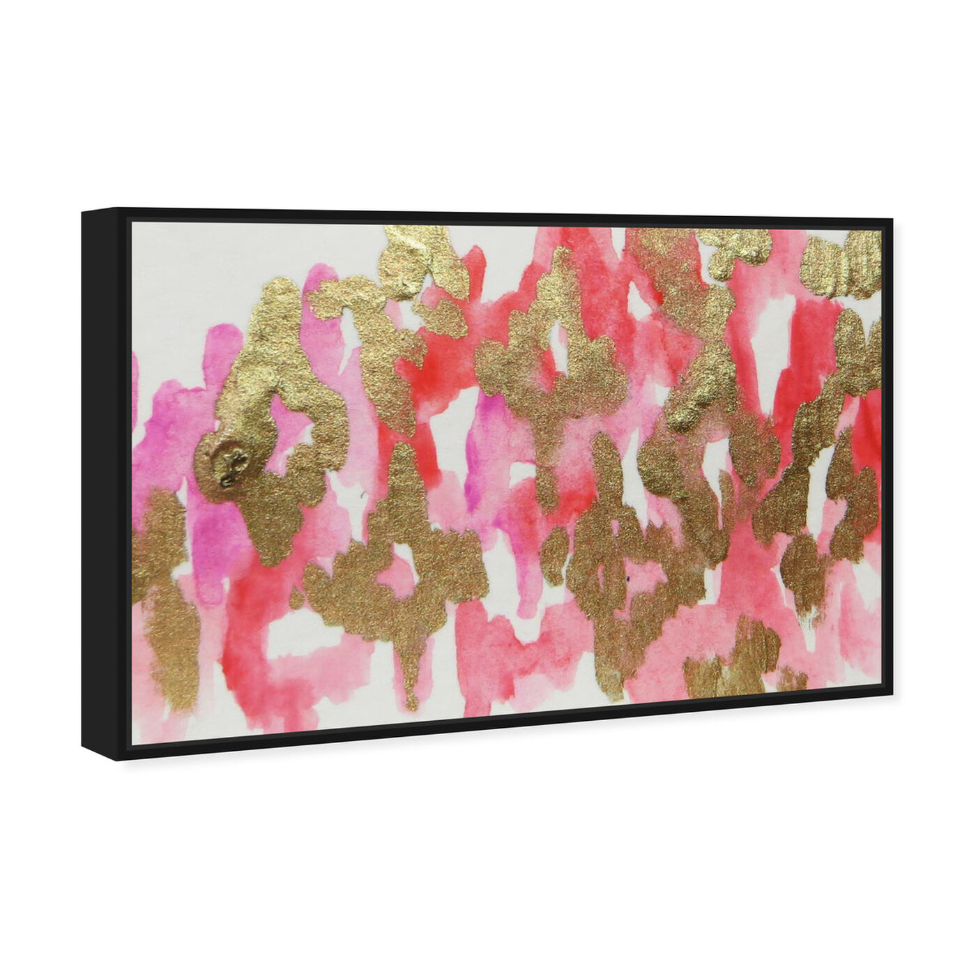 Angled view of Pink Palais - Signature Collection featuring abstract and paint art.