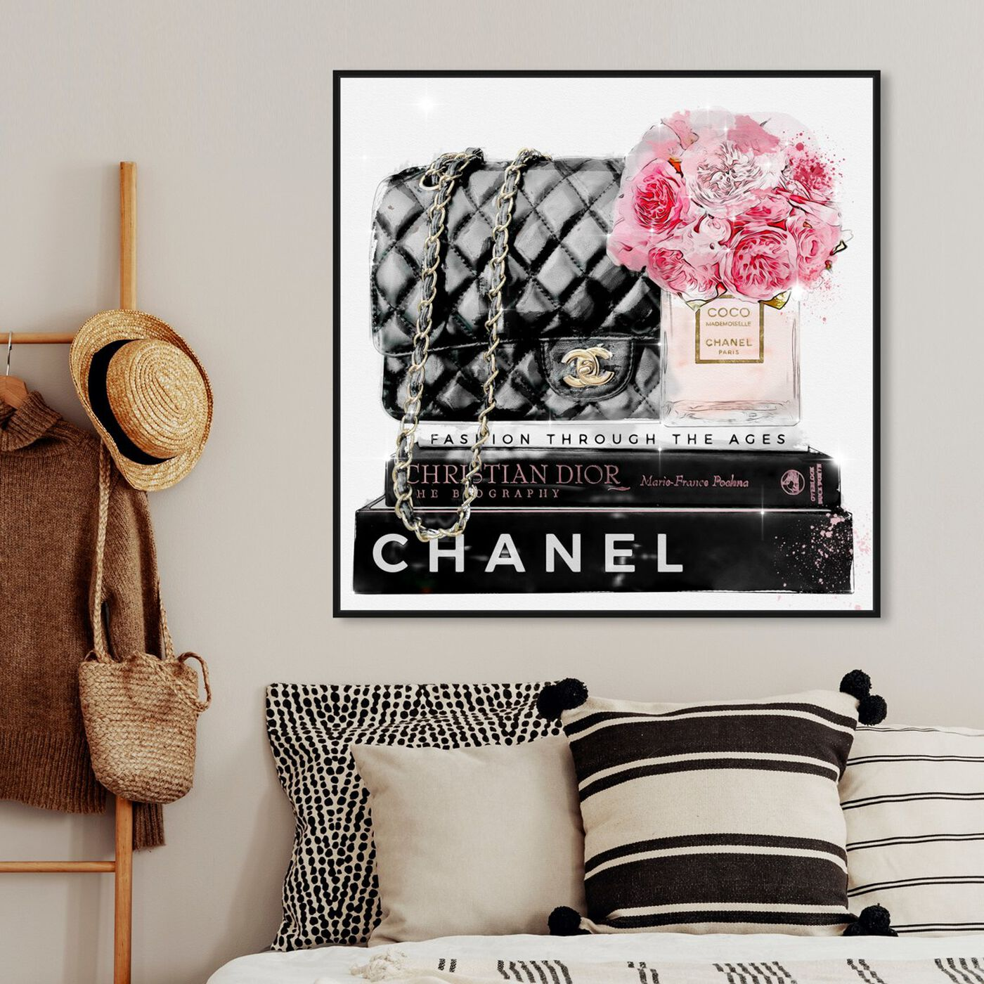 Hanging view of Elegant Essentials Paris featuring fashion and glam and handbags art.