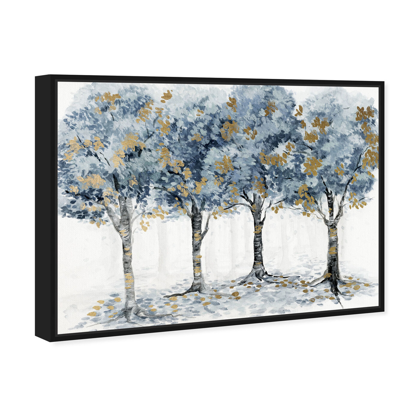 Angled view of Pale Blue Forest featuring floral and botanical and trees art.