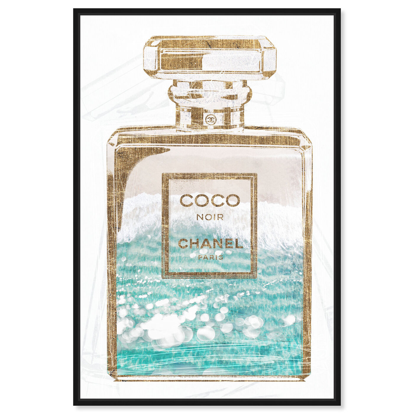 Front view of Coco Water Love featuring fashion and glam and perfumes art.