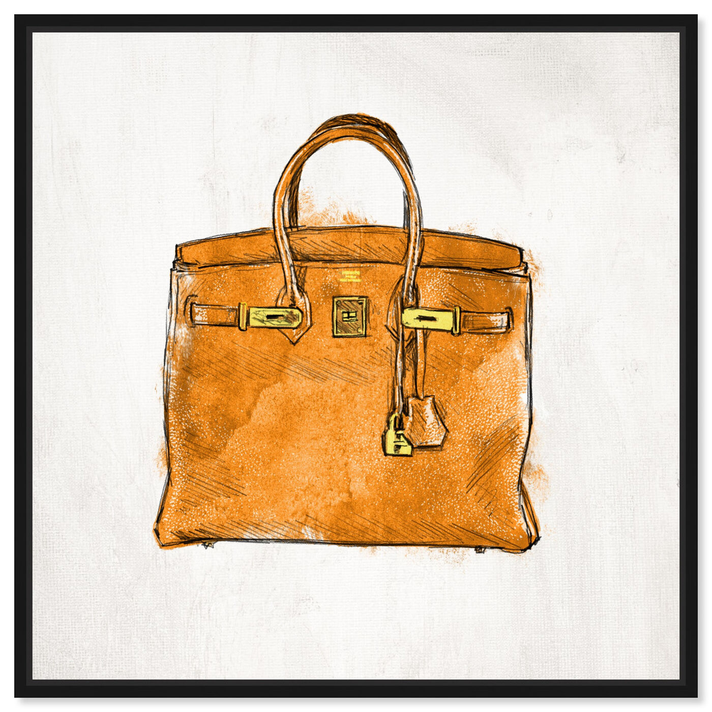 Front view of My Lucky Bag featuring fashion and glam and handbags art.