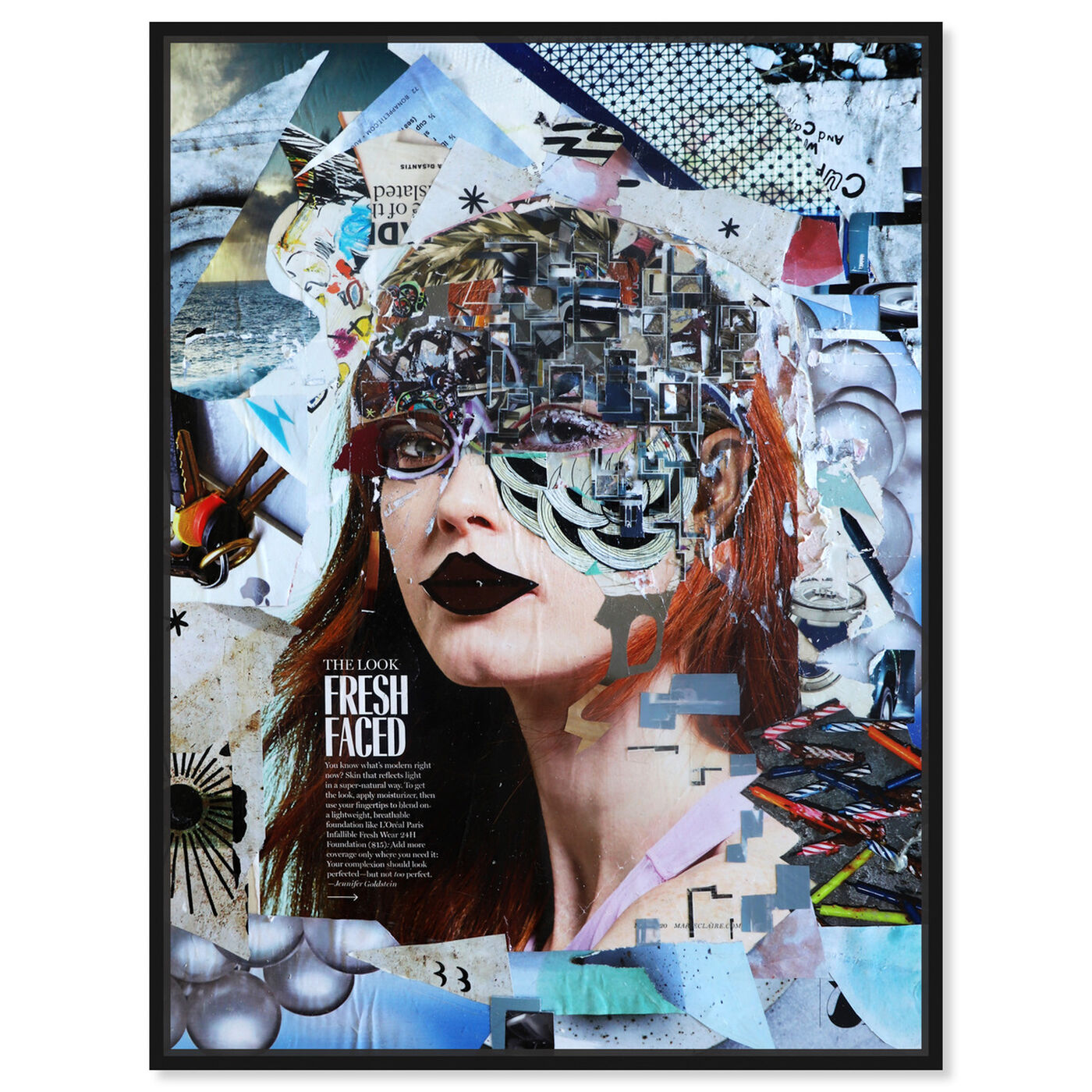 Front view of Katy Hirschfeld - Fresh Sky Blues featuring fashion and glam and portraits art.