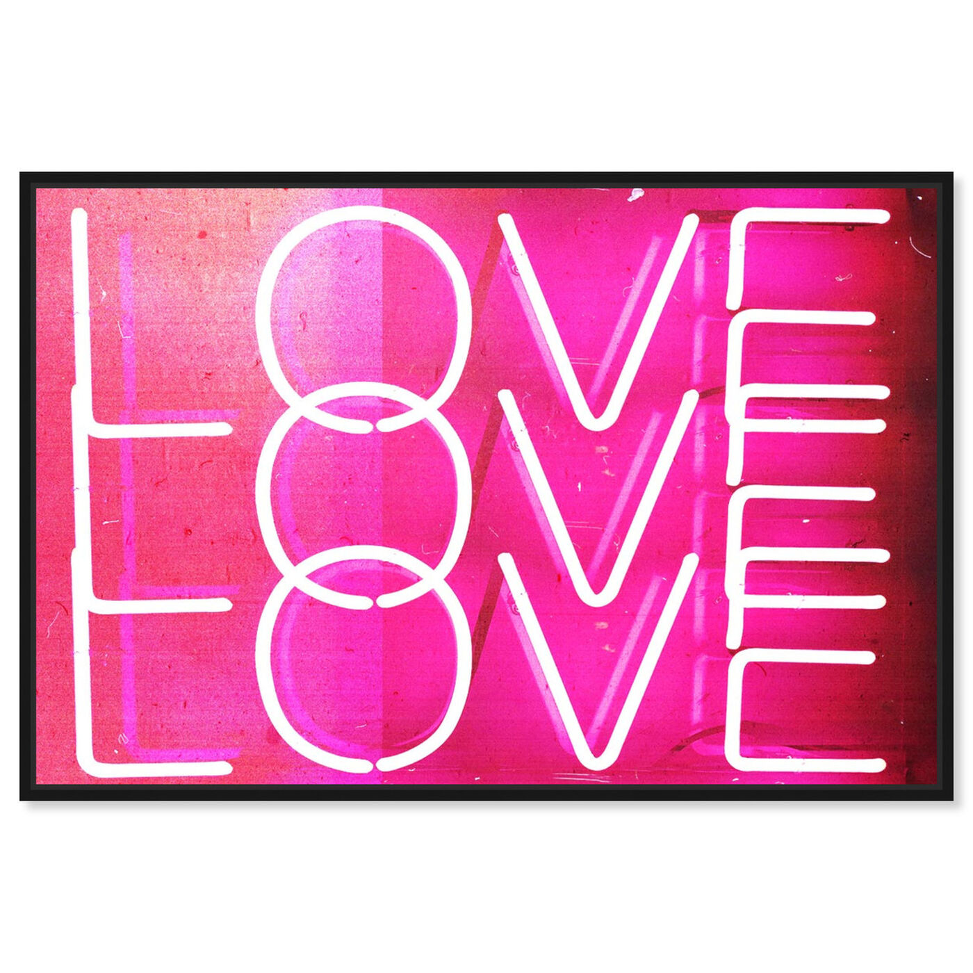 Front view of Love Neon Lights featuring typography and quotes and love quotes and sayings art.