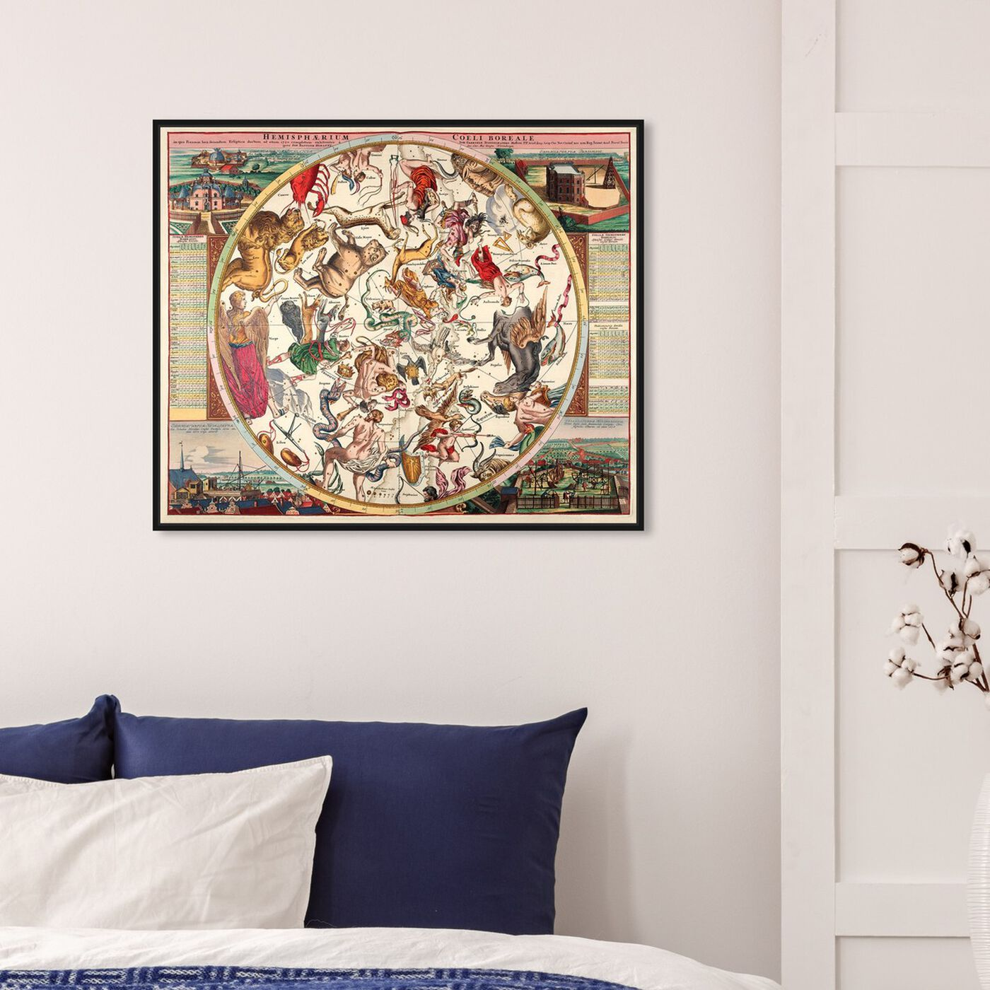 Hanging view of Horoscope Boreali featuring spiritual and religious and zodiac art.