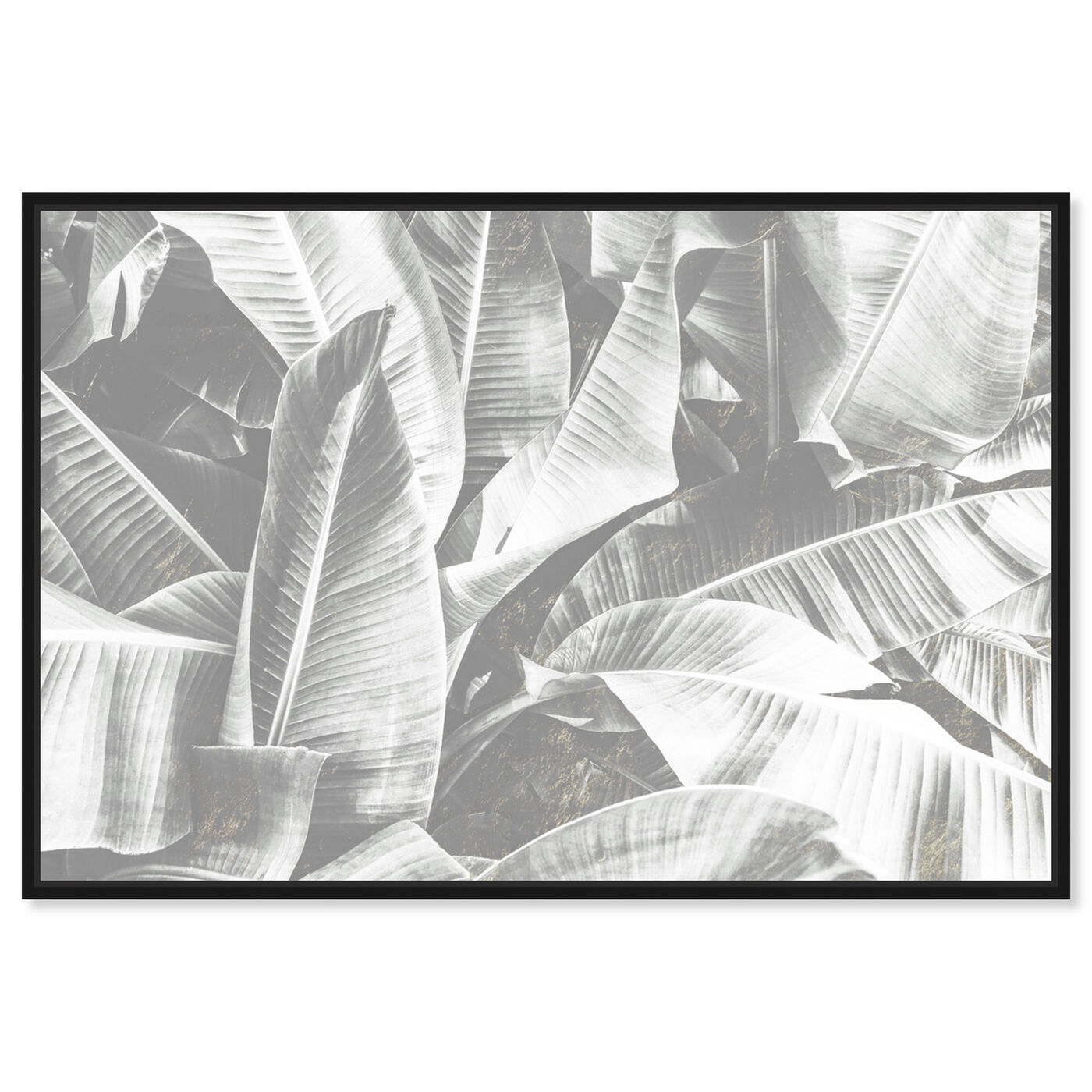 Front view of Banana Leaf Light featuring floral and botanical and botanicals art.