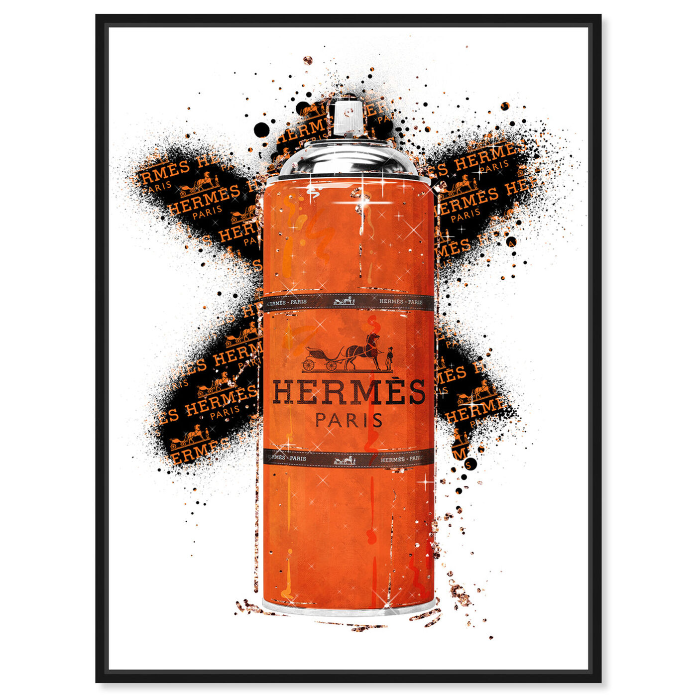 Front view of Fashion Orange Spray featuring fashion and glam and lifestyle art.