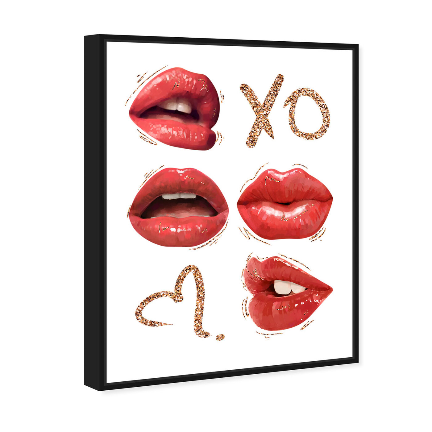 Angled view of XO Lipgloss Kiss featuring fashion and glam and lips art.