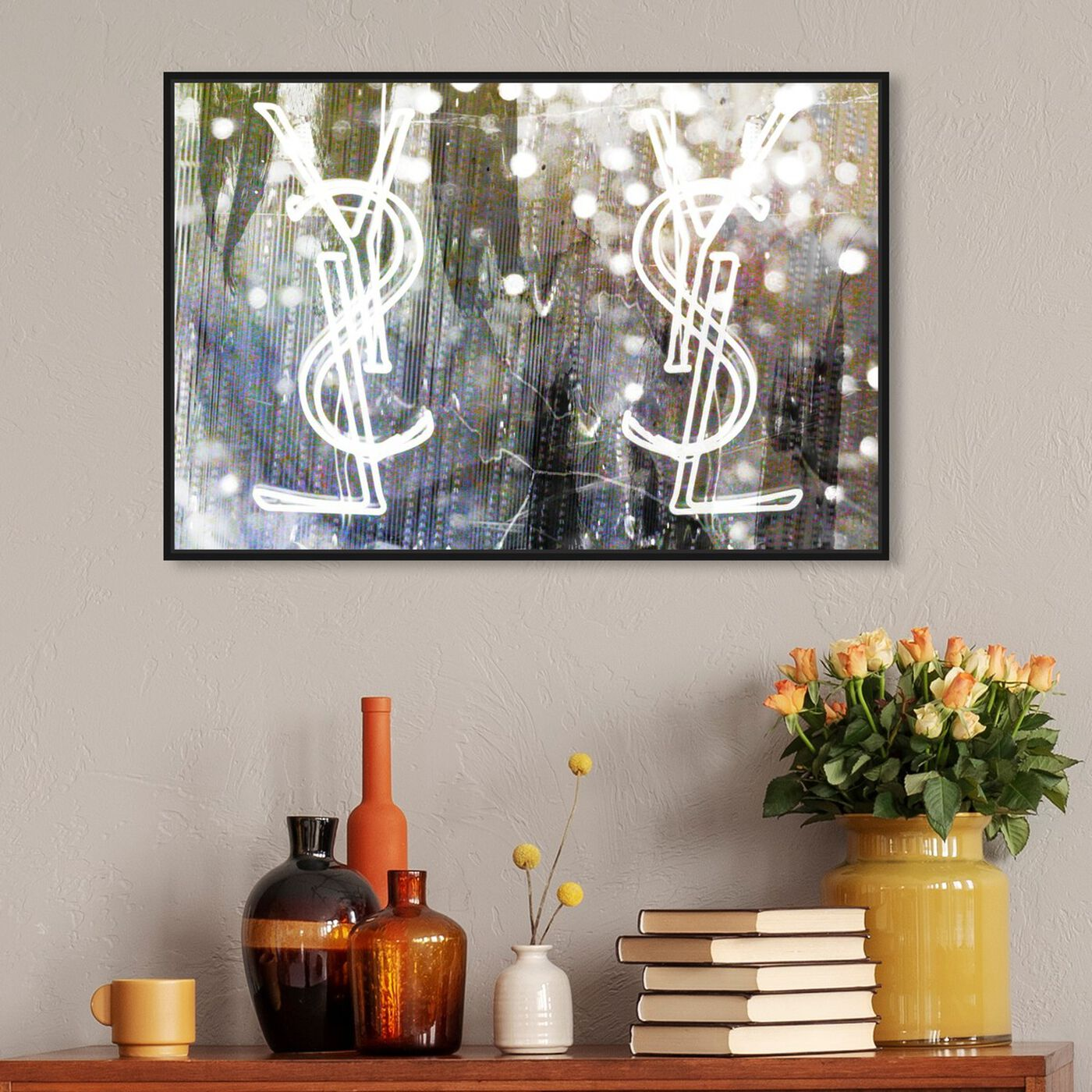 Hanging view of Call Your Girlfriend Snow featuring fashion and glam and fashion art.