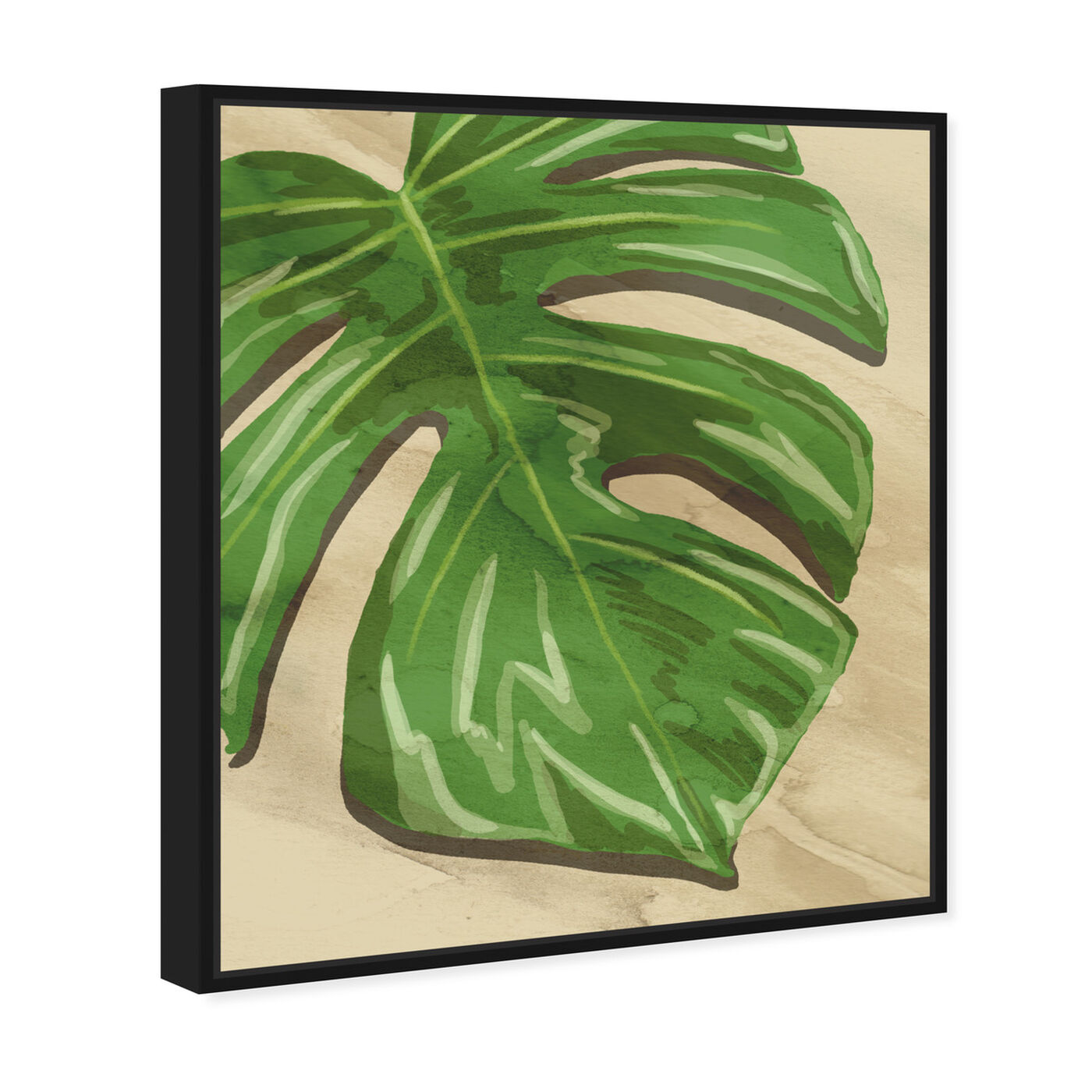 Angled view of Neutral Leaves I featuring floral and botanical and botanicals art.