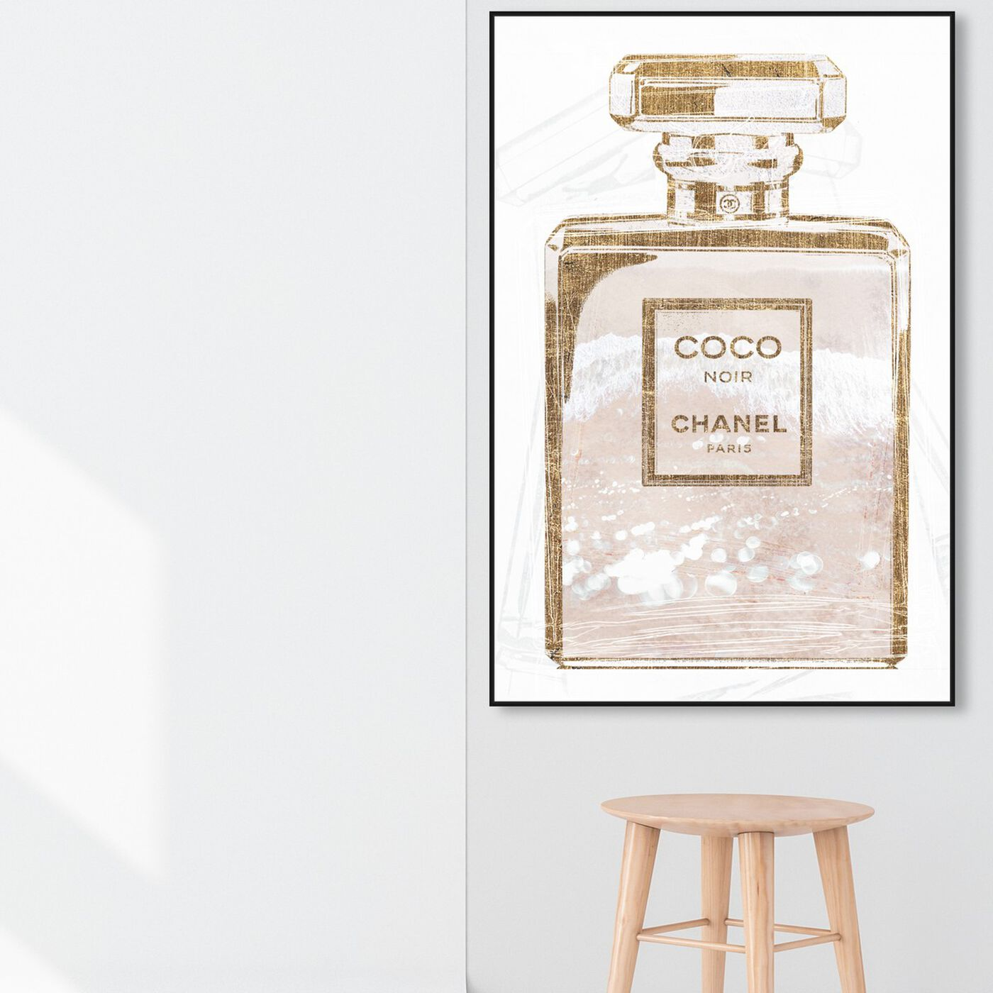 Hanging view of Coco Water Love Shell featuring fashion and glam and perfumes art.