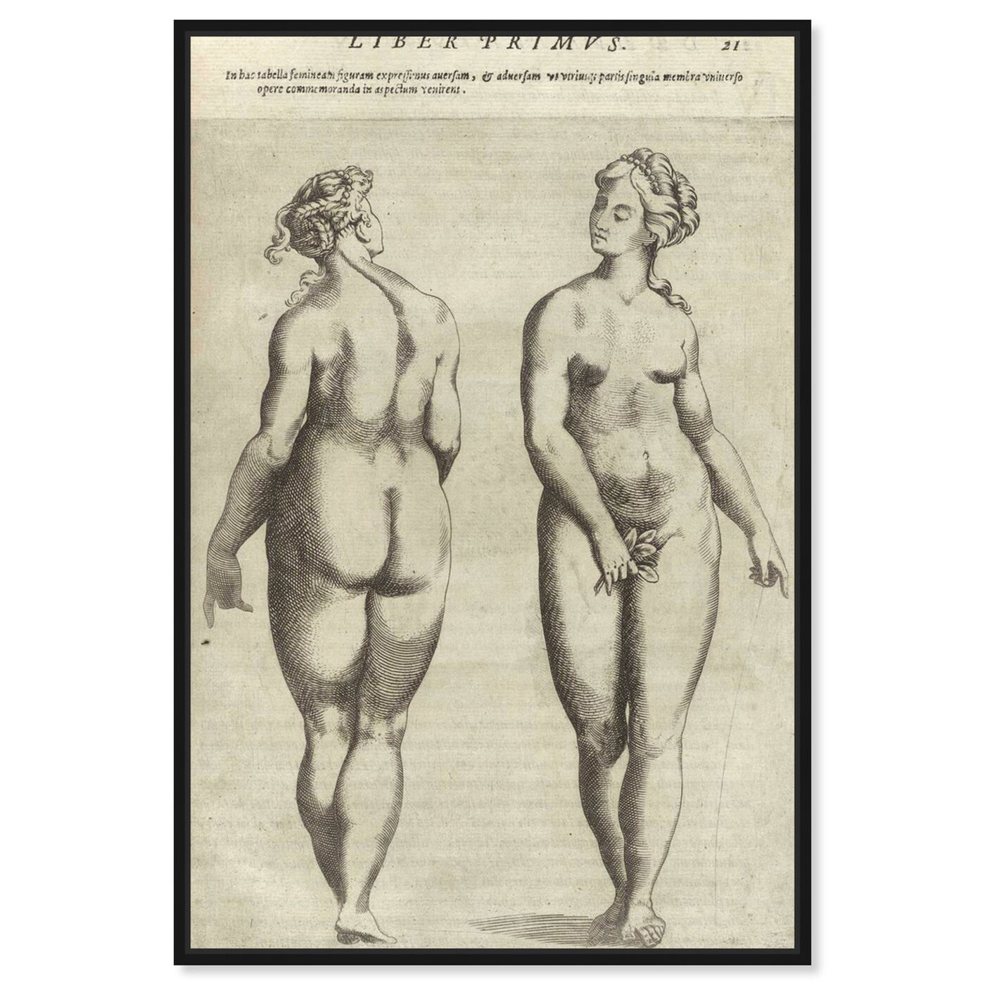 Front view of Liber Primvs - The Art Cabinet featuring classic and figurative and nudes art.