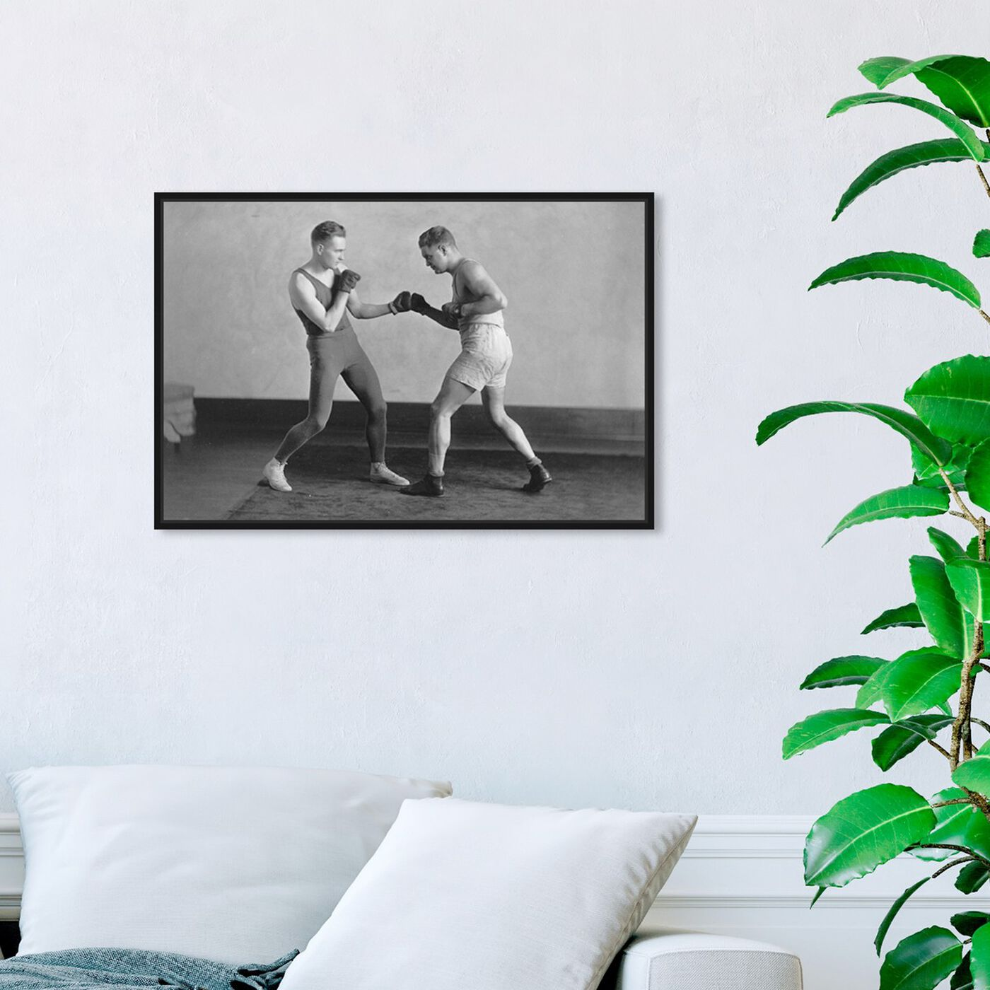 Hanging view of McGill Boxing - The Art Cabinet featuring sports and teams and boxing art.